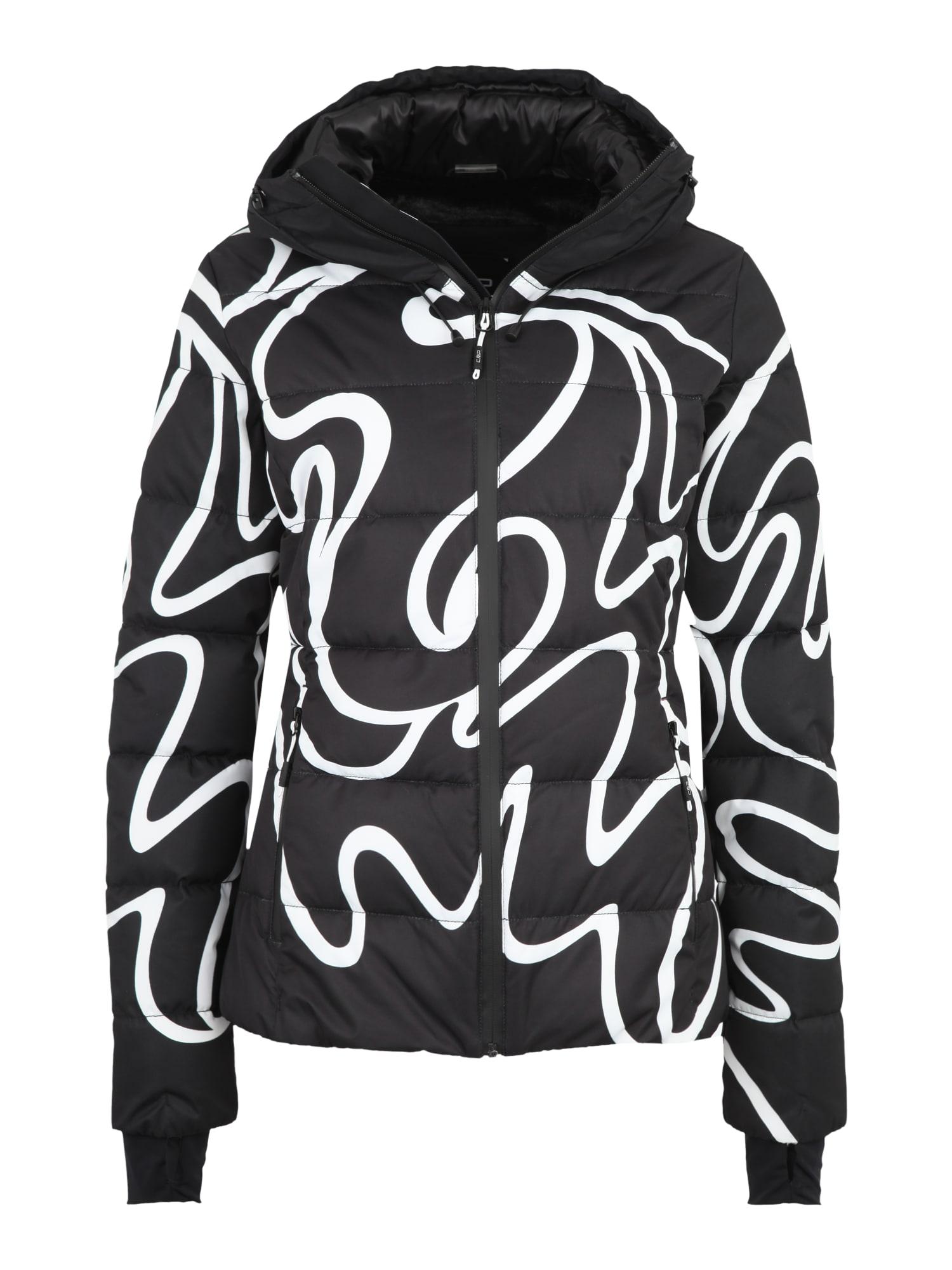 Outdoorová bunda černá bílá CMP