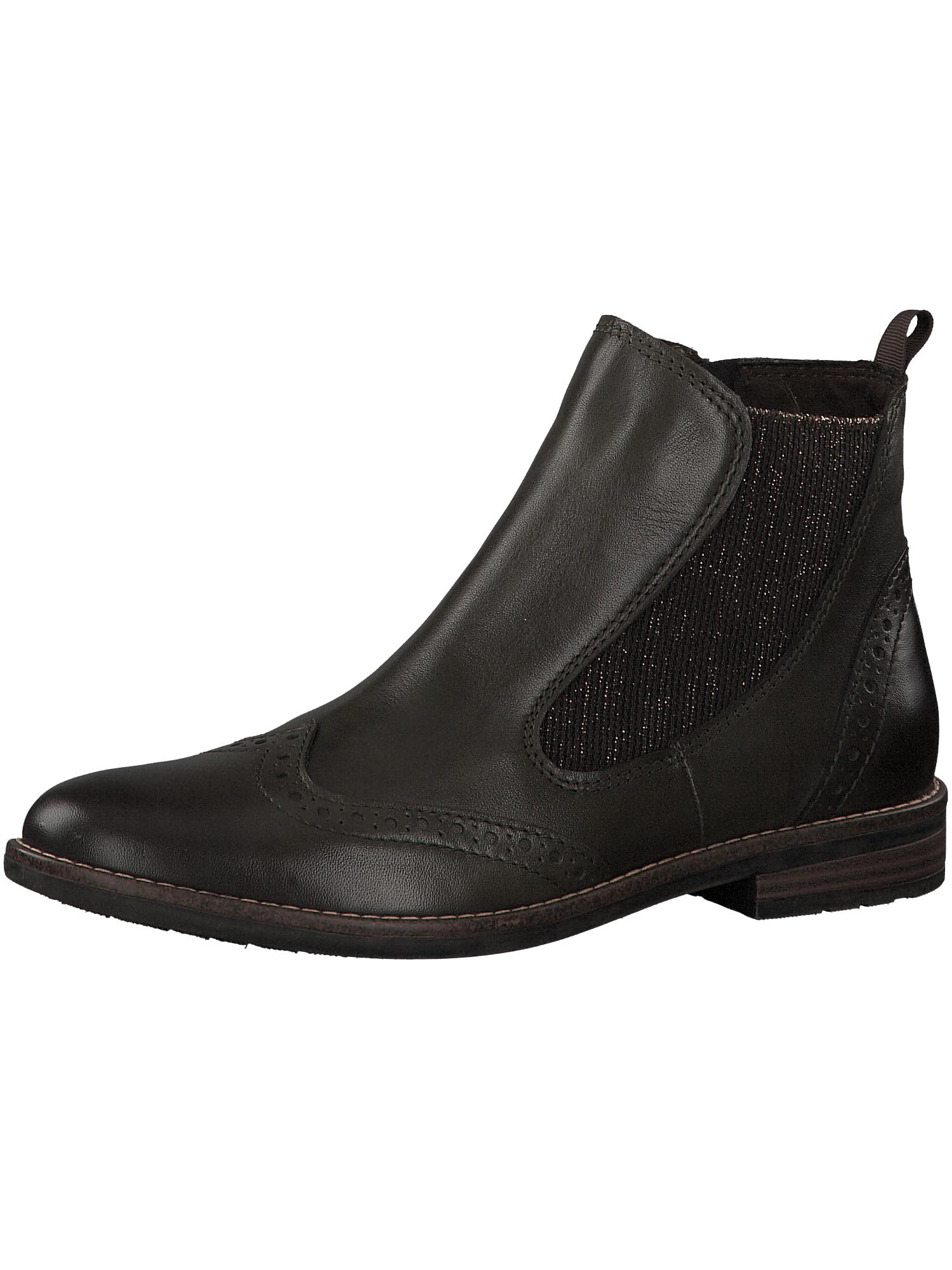 Chelsea boty tmavě hnědá MARCO TOZZI