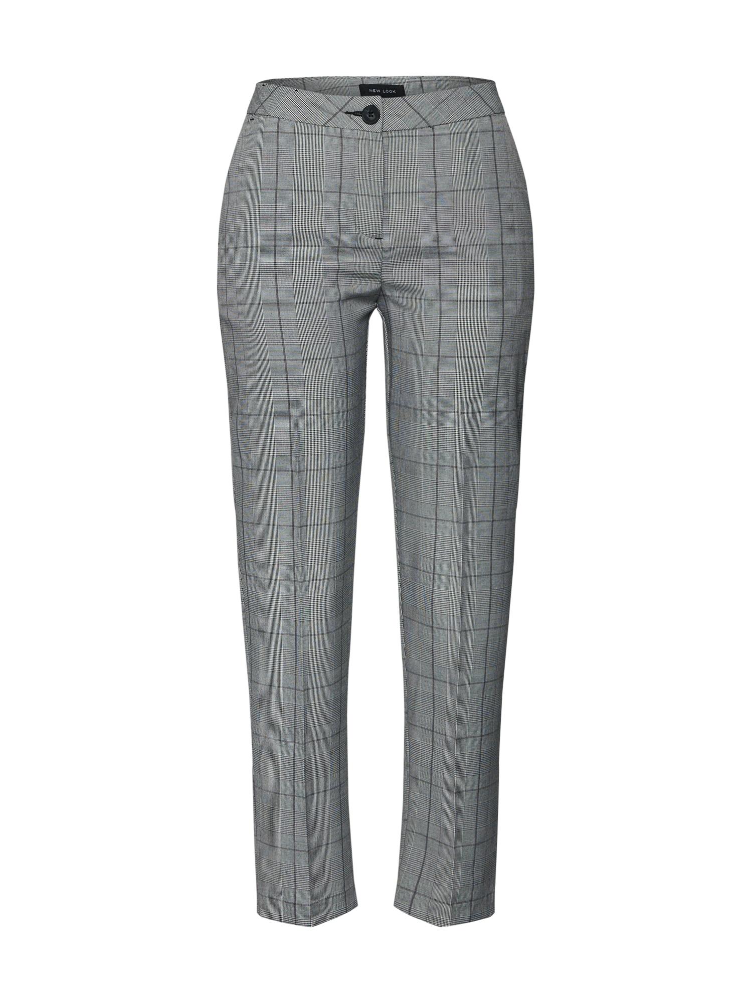 Chino kalhoty GIGI CHECK šedá NEW LOOK
