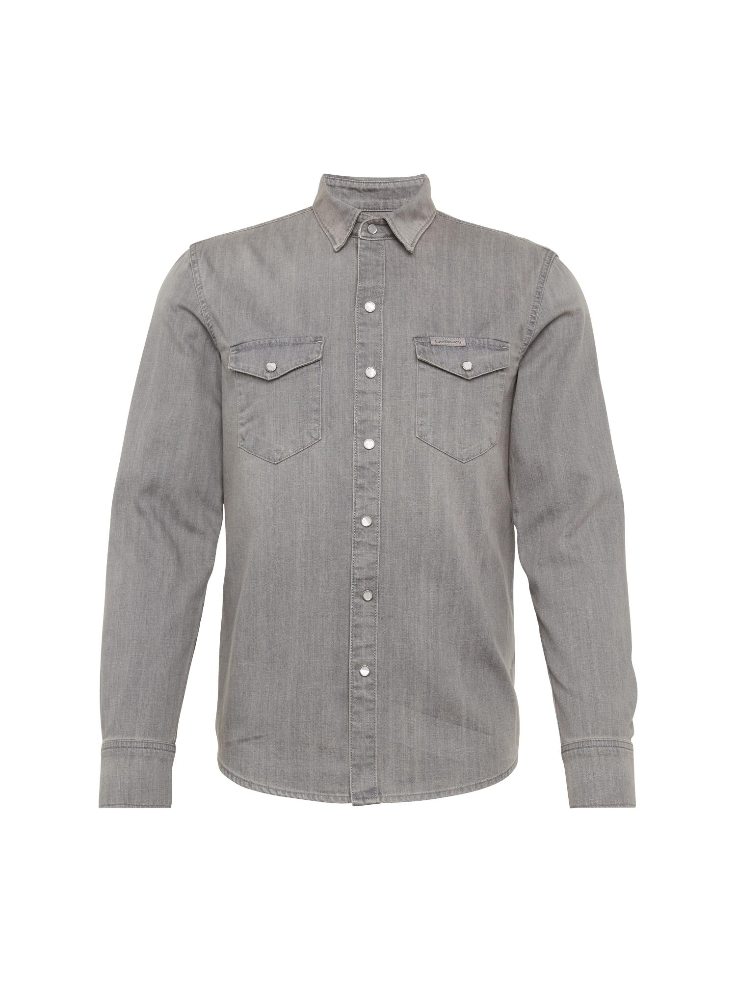 Košile GREY ZONE šedá džínová Calvin Klein Jeans