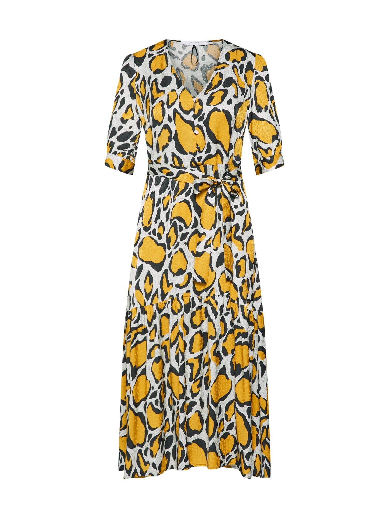 Šaty Irina béžová hnědá žlutá Gestuz