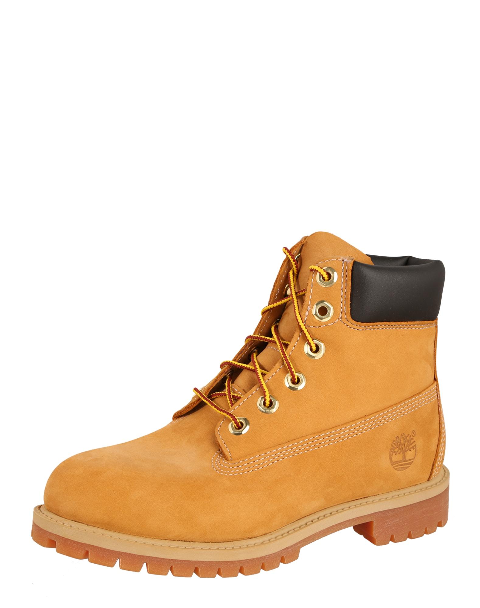 Kozačky 6-Inch Premium Boot Junior 9497R koňaková černá TIMBERLAND