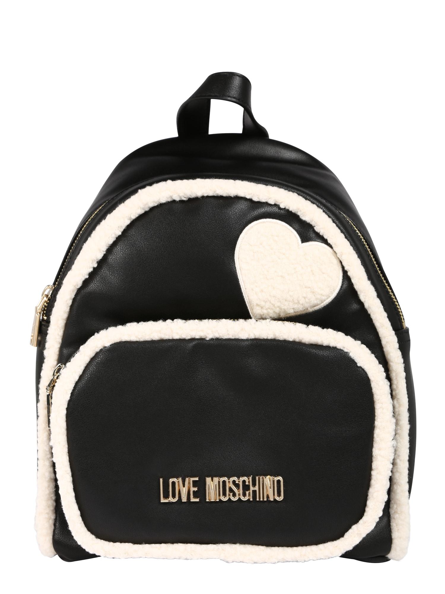 Batoh BORSA PU NEROECO SHEARLING AVORIO krémová Love Moschino