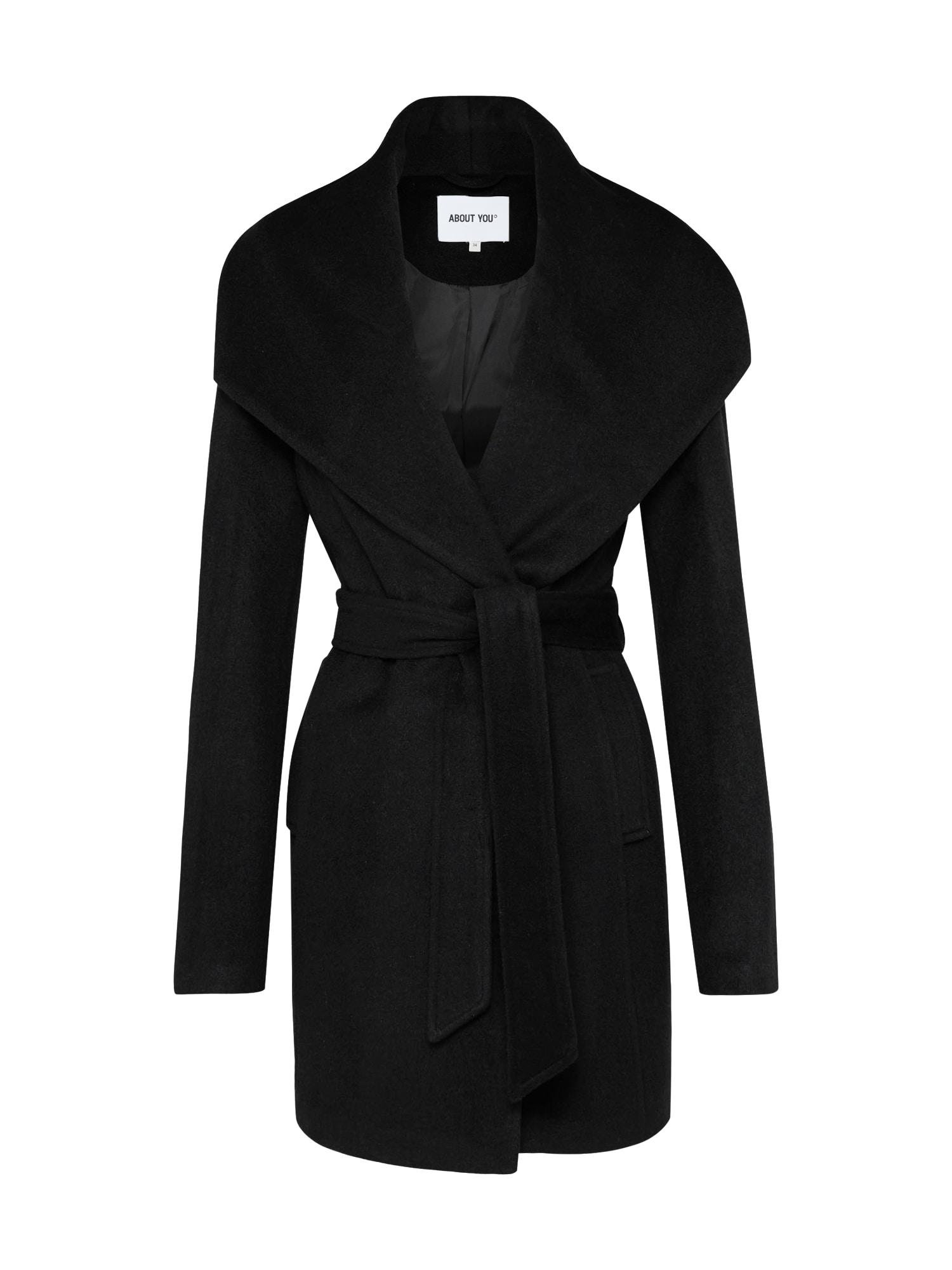 Zimní kabát černá ABOUT YOU