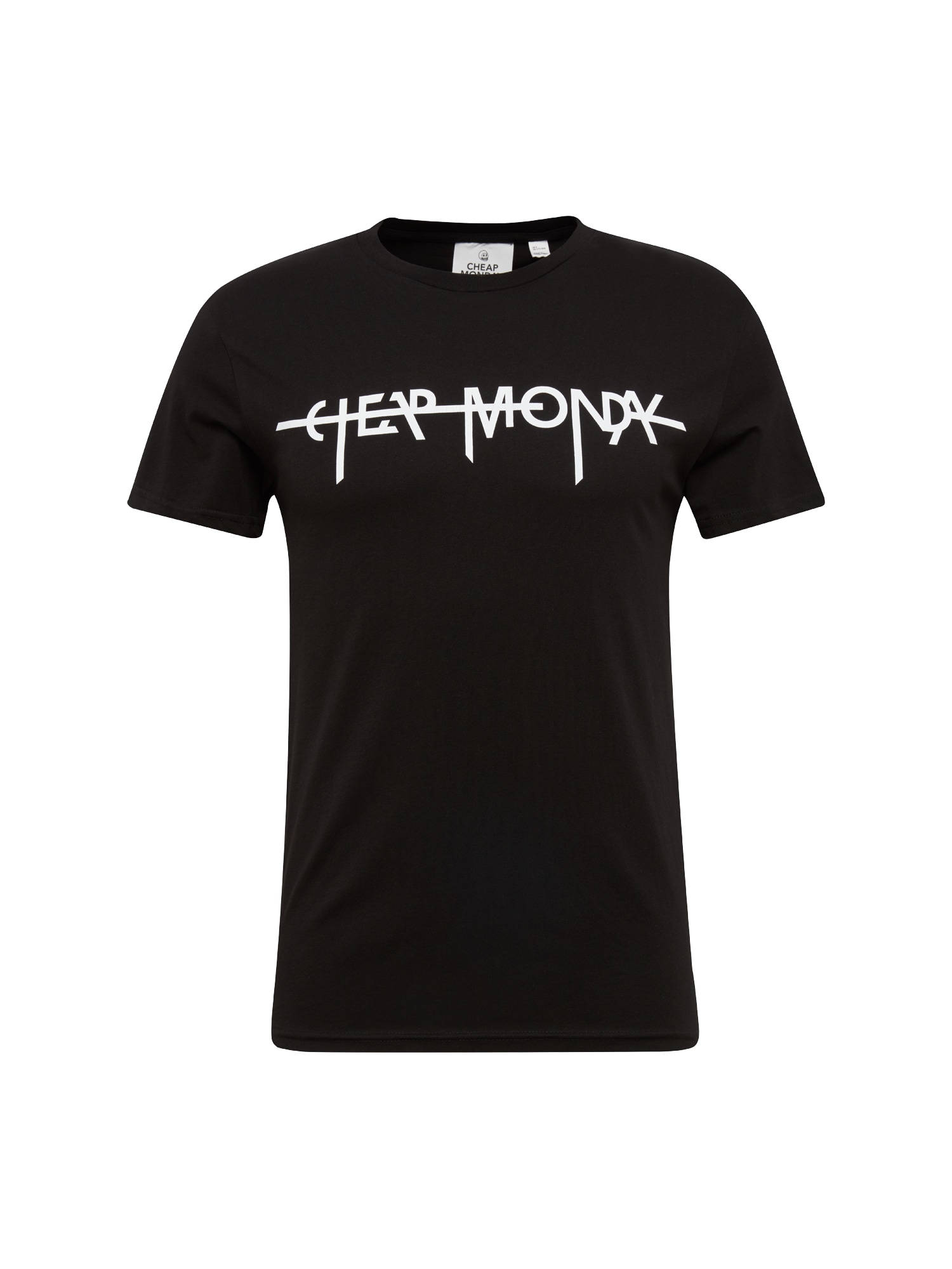 CHEAP MONDAY Heren Shirt Standard tee Hacker logo zwart wit