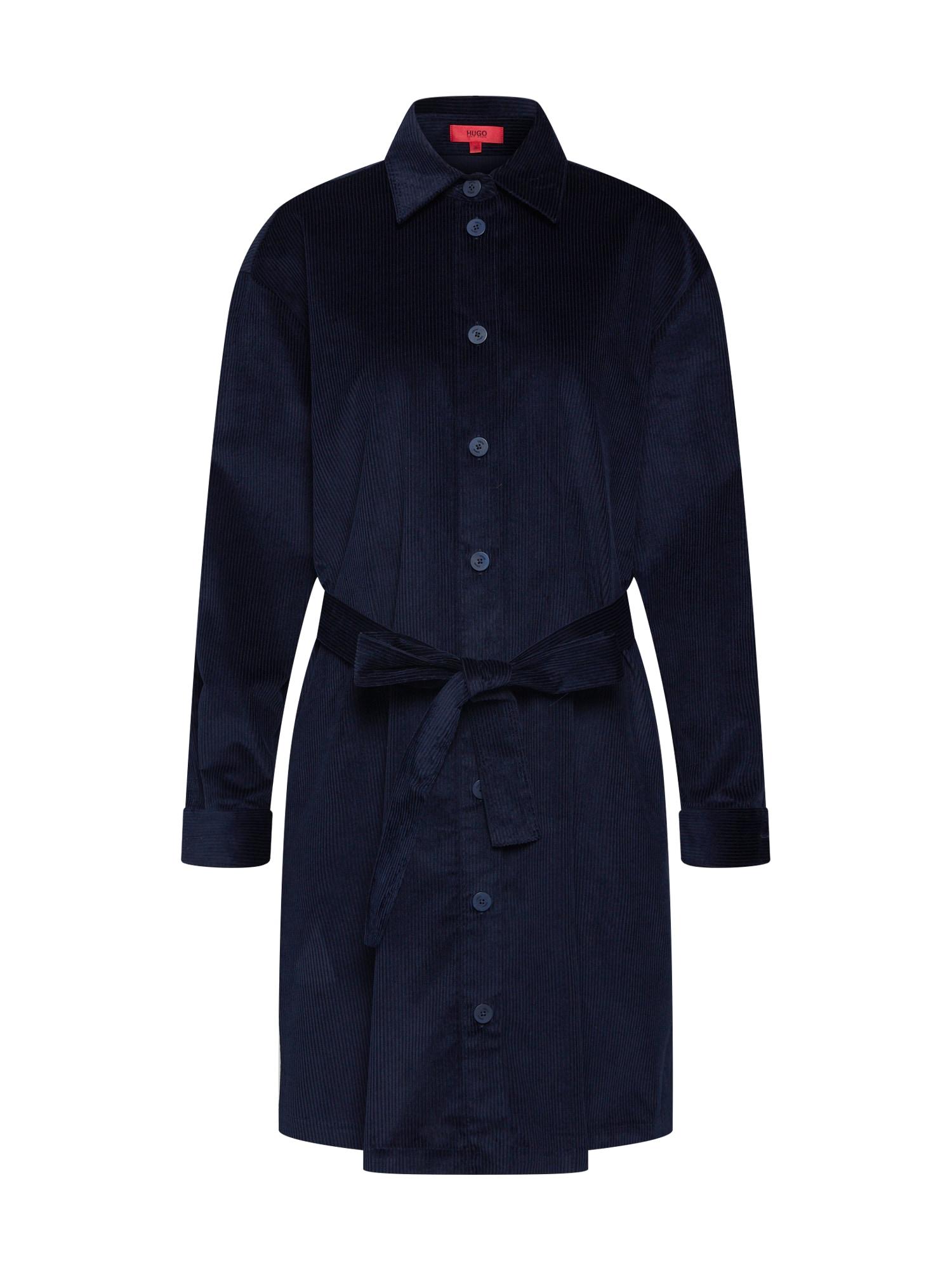 Košilové šaty Emiraya noční modrá HUGO