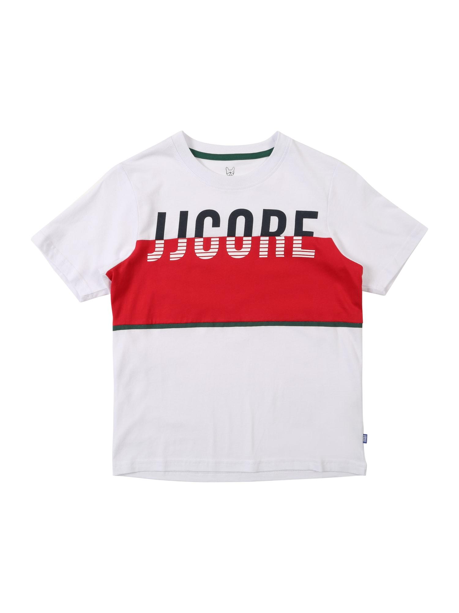 Tričko VIKING antracitová červená bílá Jack & Jones Junior