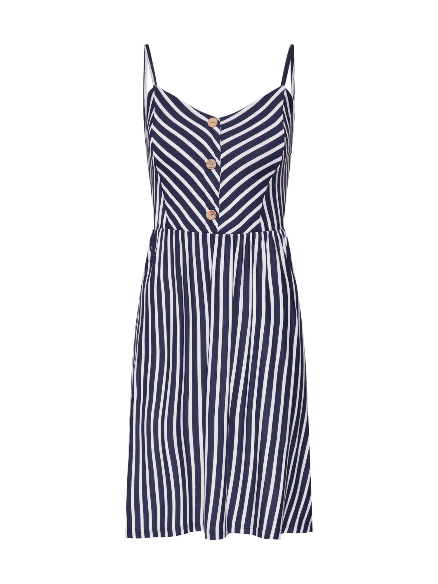 Letní šaty Marilyn námořnická modř bílá Hailys