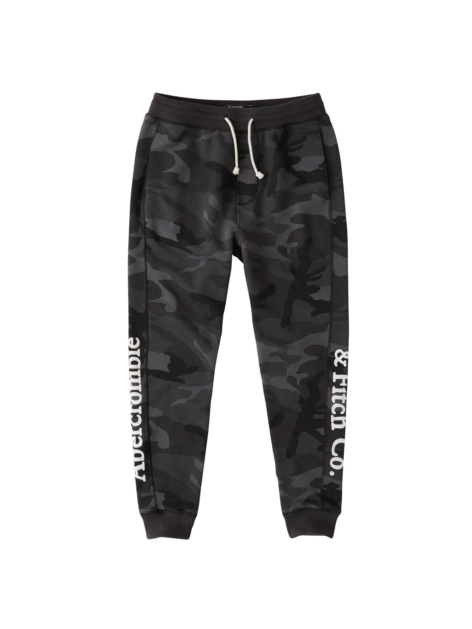 Kalhoty antracitová černá Abercrombie & Fitch