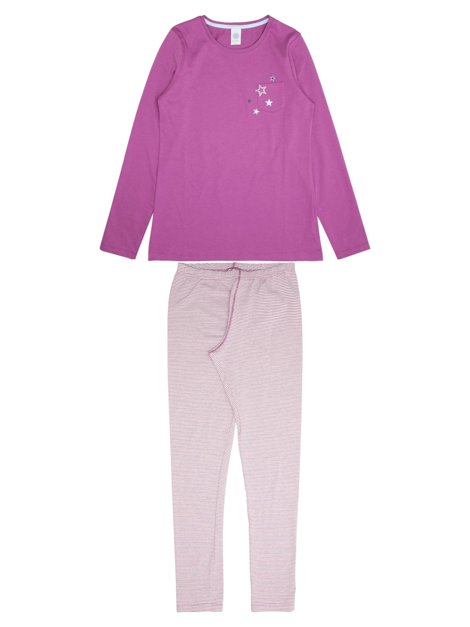 Pyžamo fialová bílá SANETTA