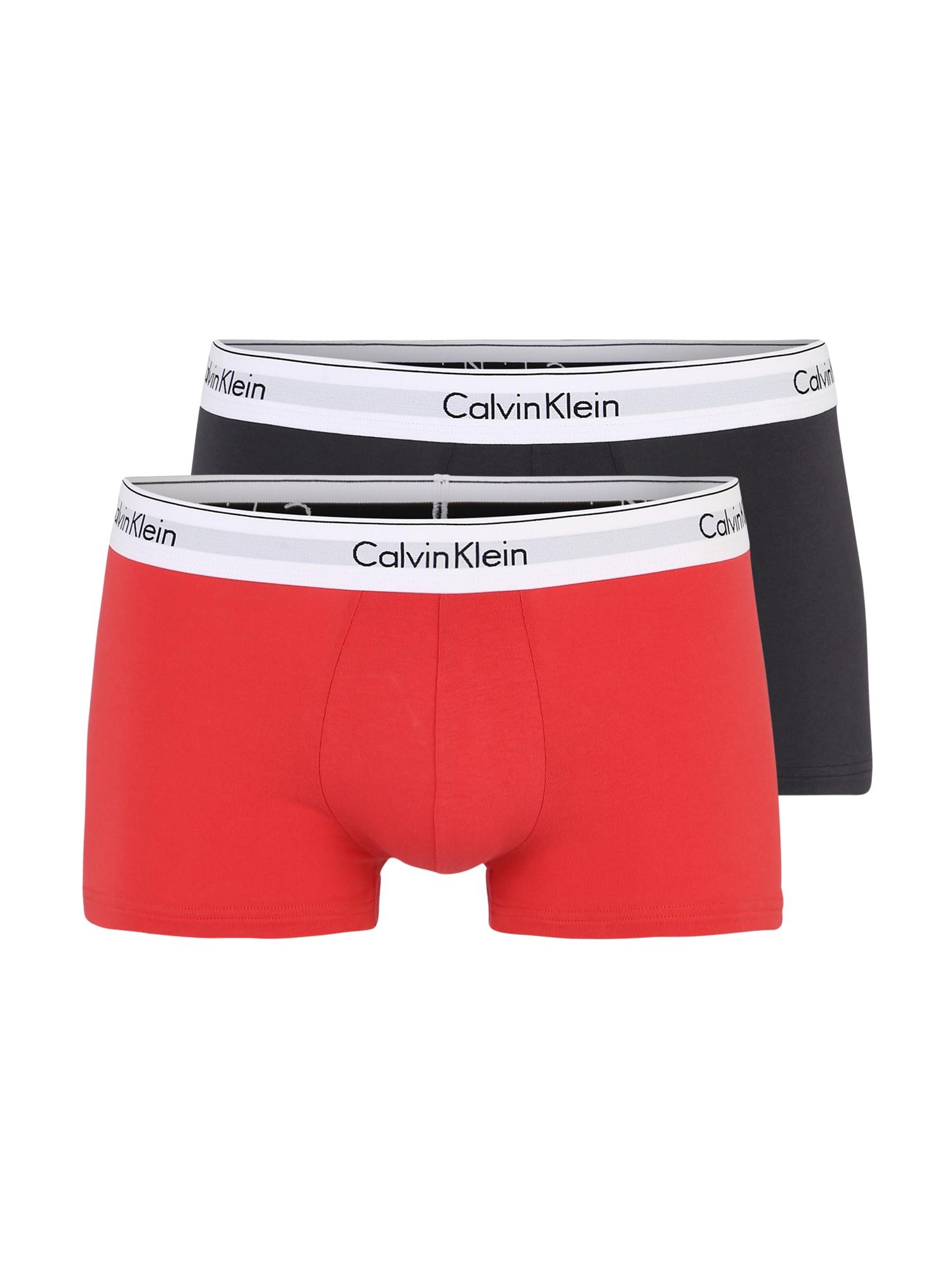 Boxerky šedá oranžová Calvin Klein Underwear