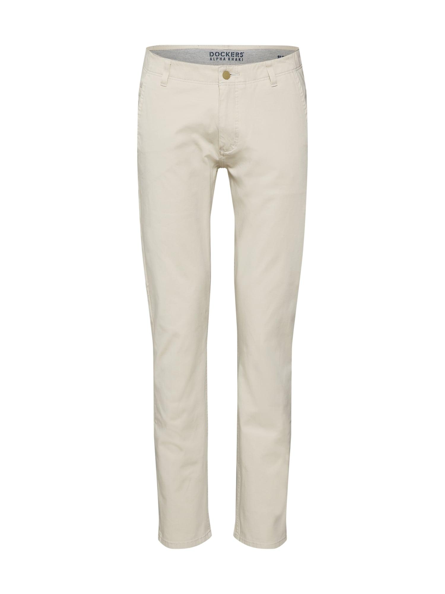 Kalhoty béžová tělová bílá Dockers