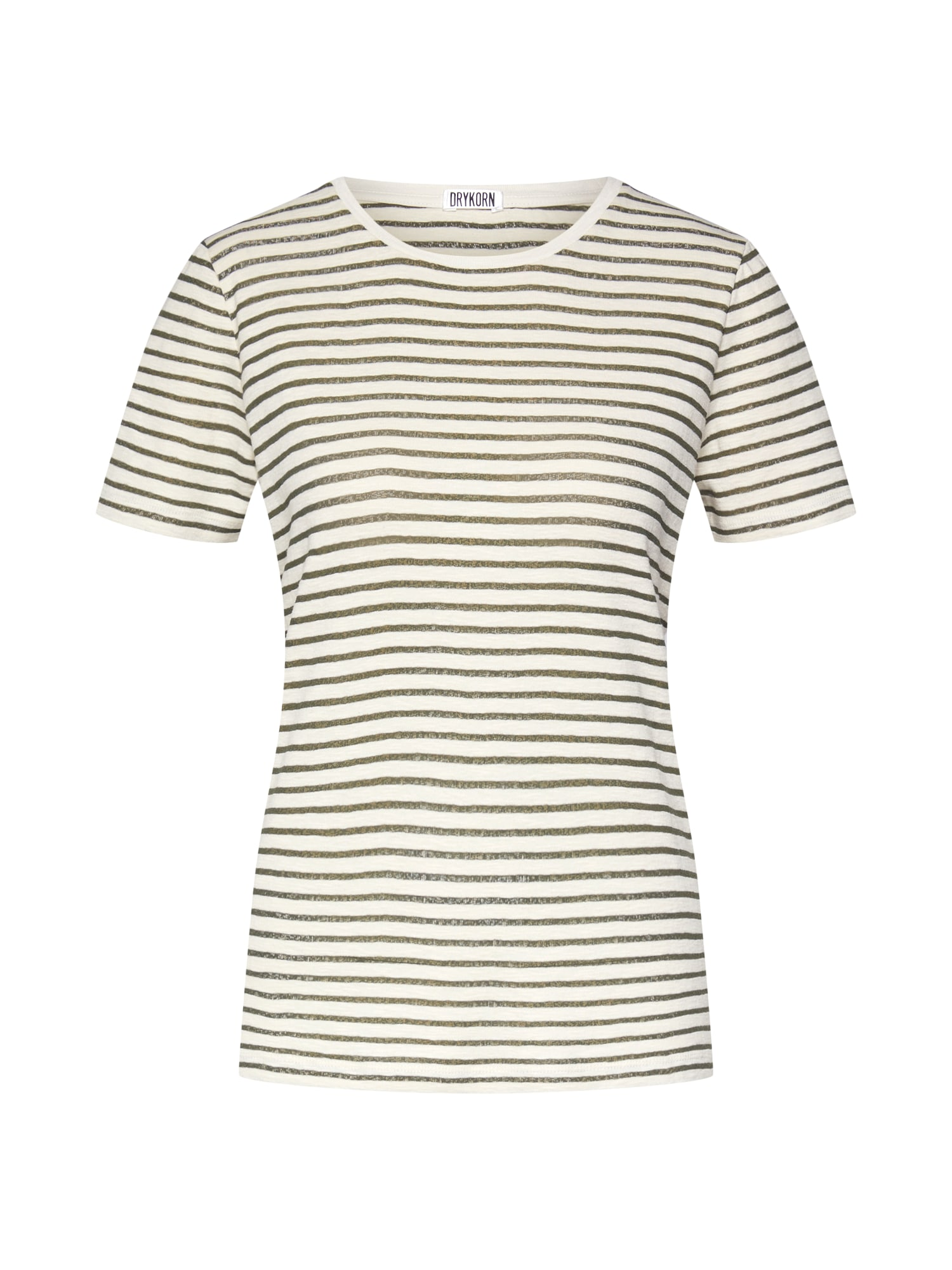 Tričko ANISIA khaki bílá DRYKORN
