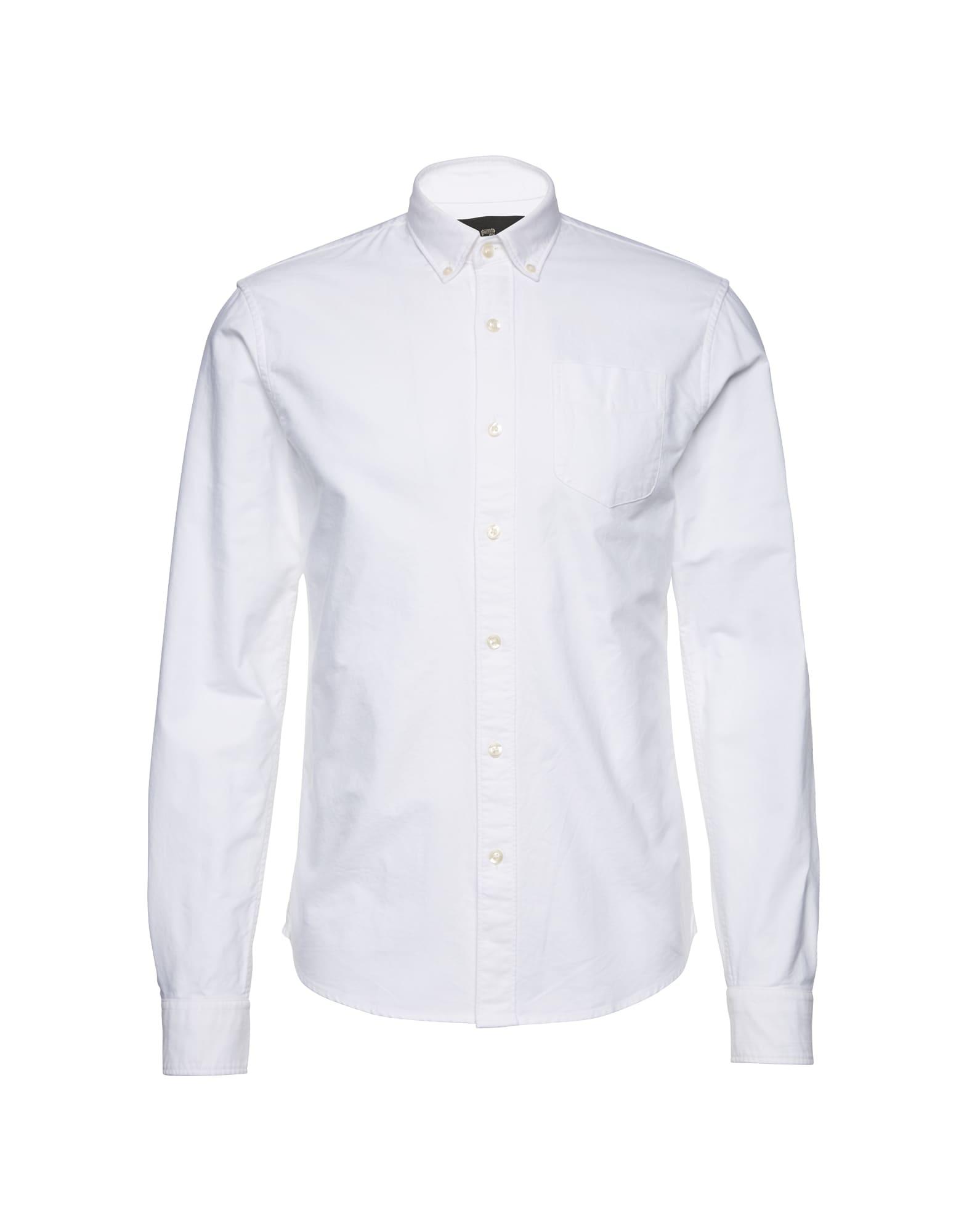 SCOTCH  and  SODA Heren Zakelijk overhemd Classic Oxford Shirt wit