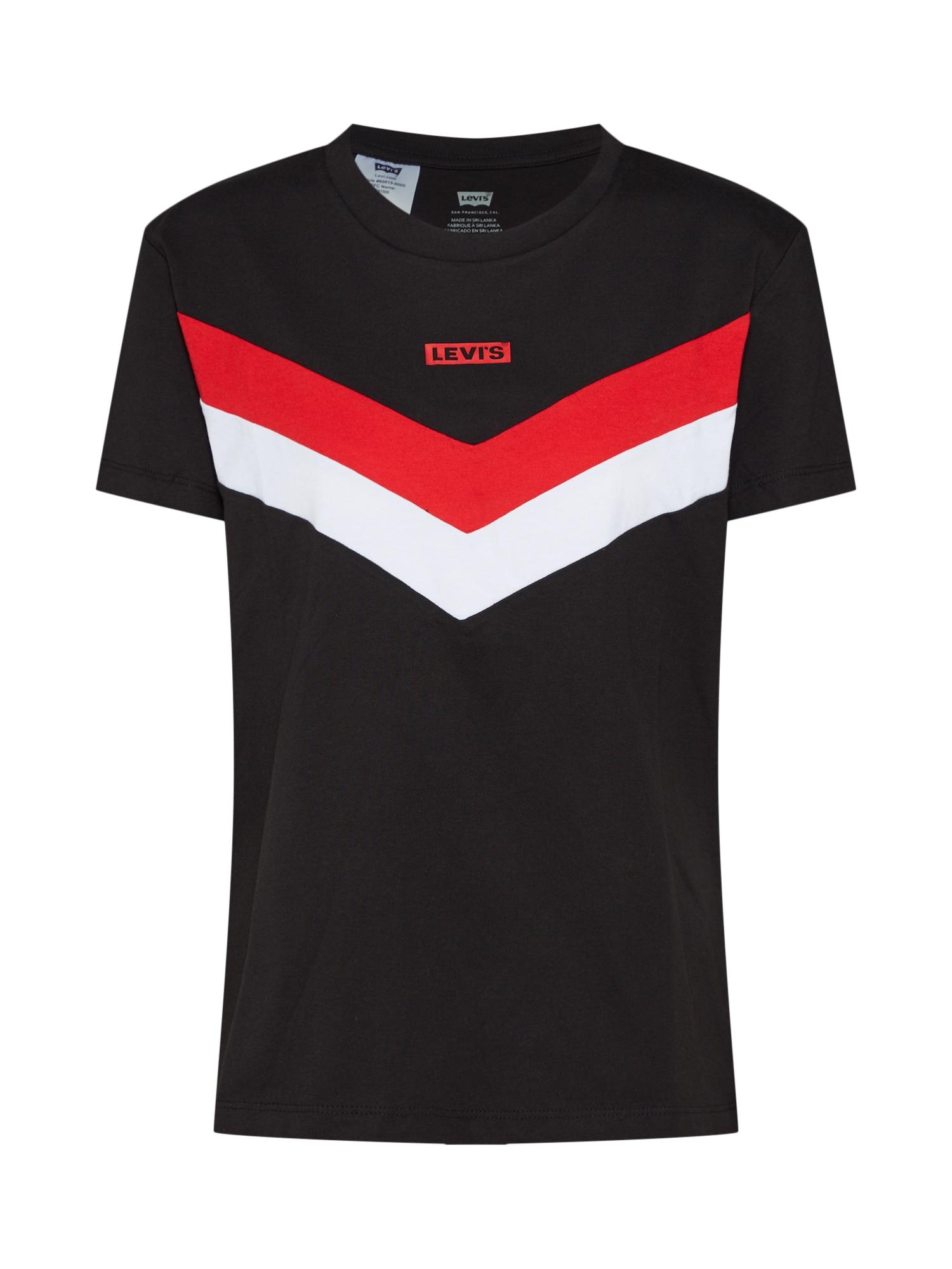 LEVIS Tričko FLORENCE červená černá bílá LEVI'S