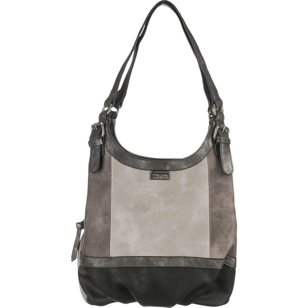 Artikel klicken und genauer betrachten! - Die TOM TAILOR Juna Handtasche zeigt sich in dezent-eleganter Optik. Der stufenlos verstellbare Schulterriemen sorgt für ein bequemes Tragegefühl.   im Online Shop kaufen