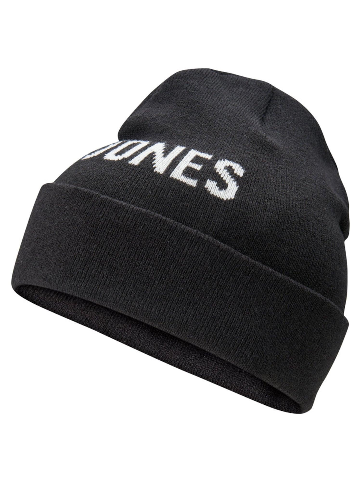 JACK & JONES, Heren Muts, zwart / wit