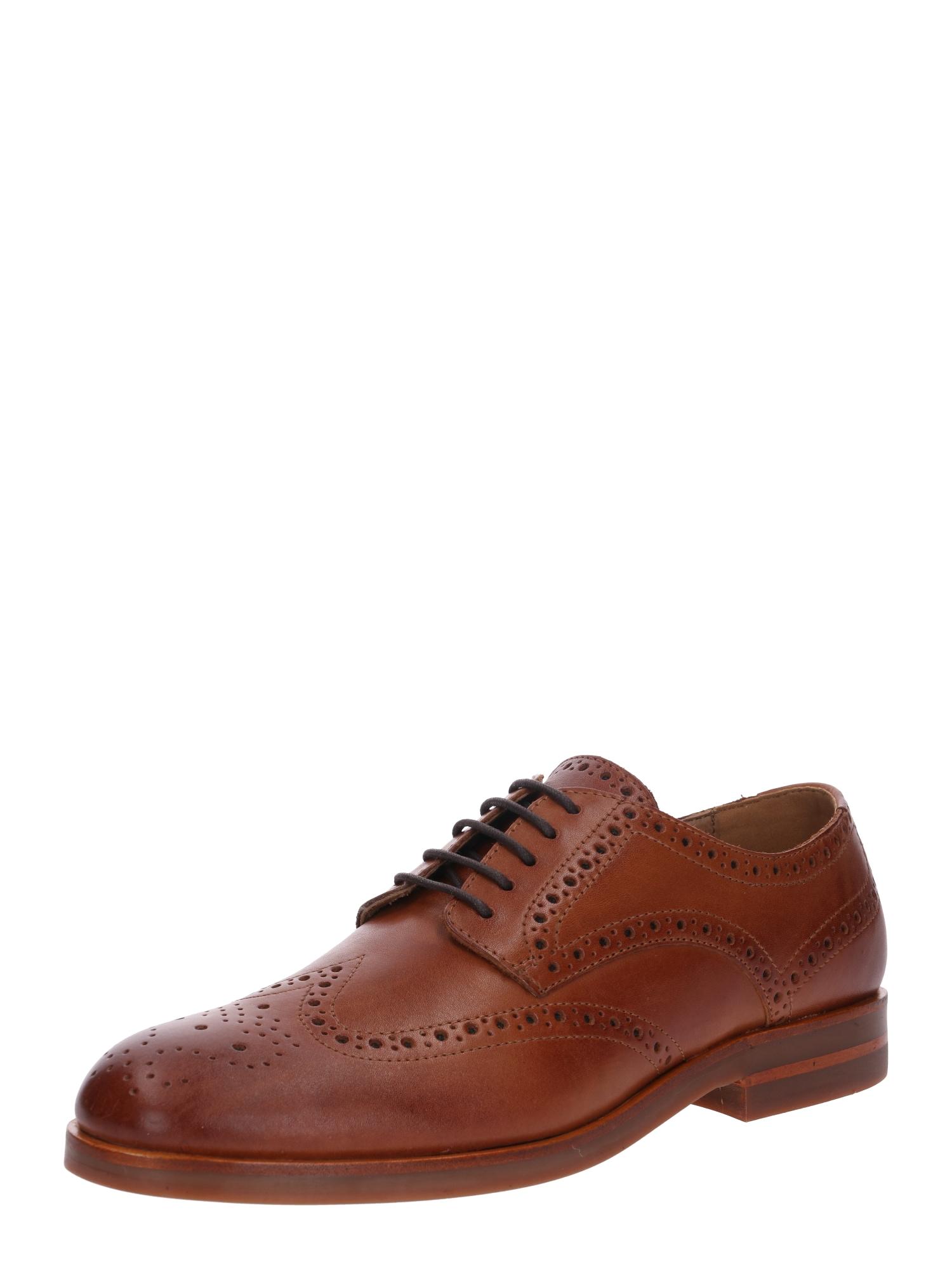 Hudson London Šněrovací boty 'Balleter'  světle hnědá