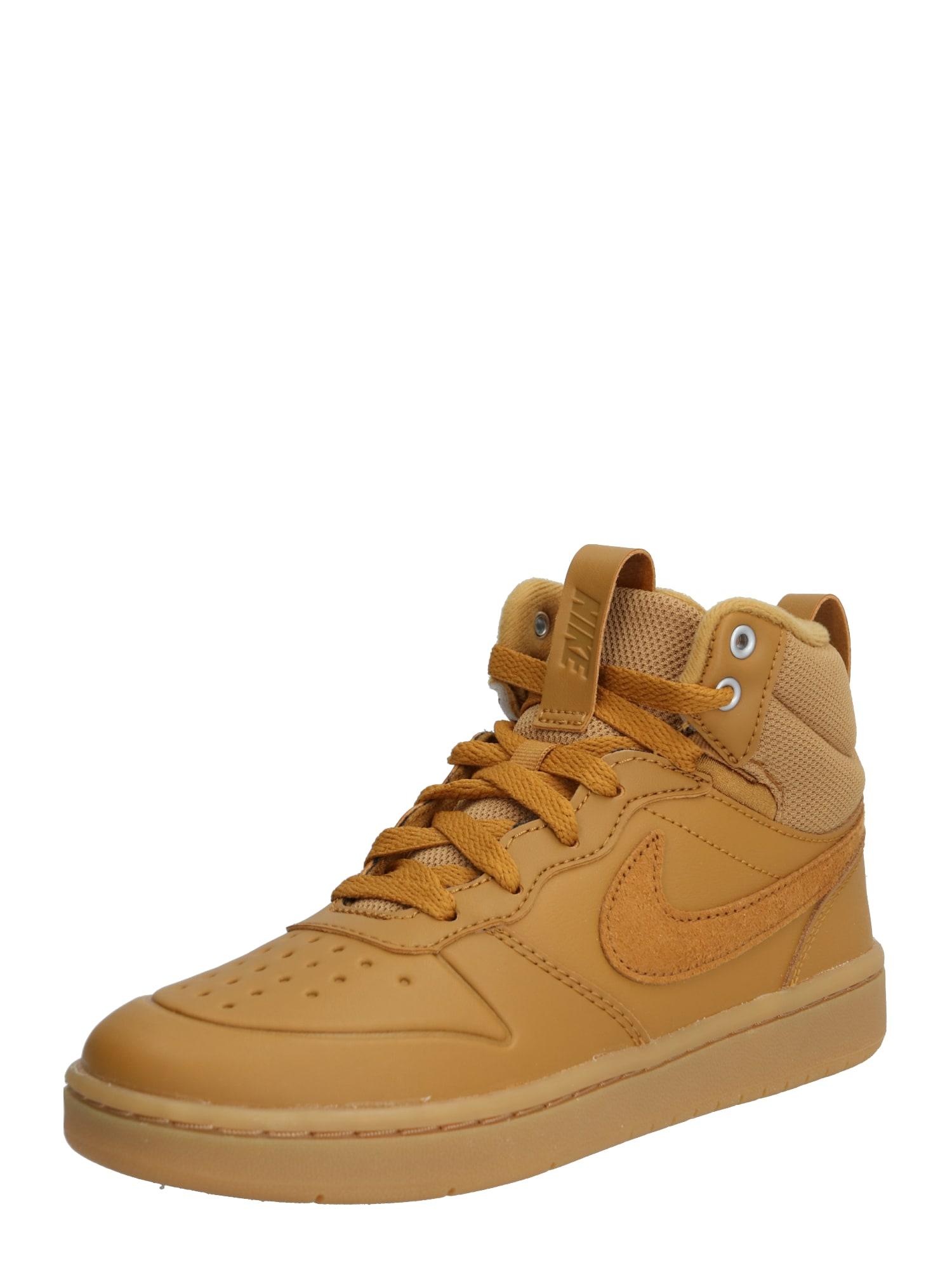 Nike Sportswear Tenisky 'Court Borough Mid 2 Boot'  hnedé