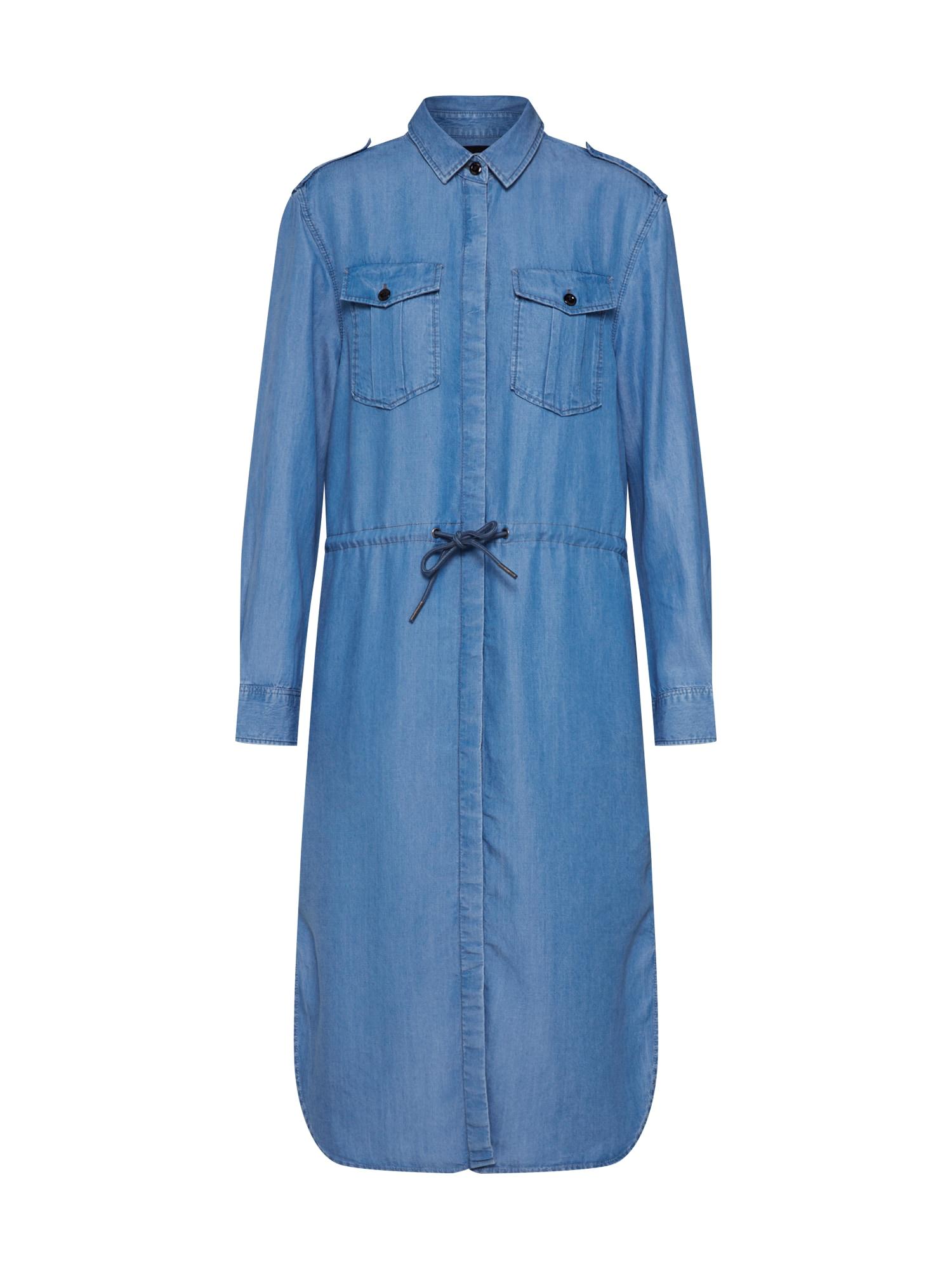 G-Star RAW Košeľové šaty 'Rovic'  modré