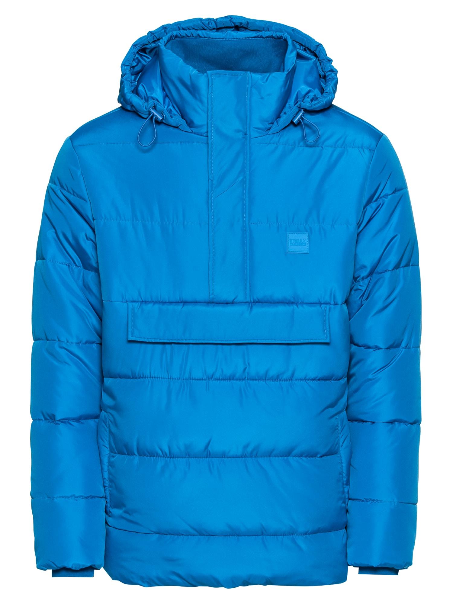 Zimní bunda Pull Over Puffer Jacket královská modrá Urban Classics