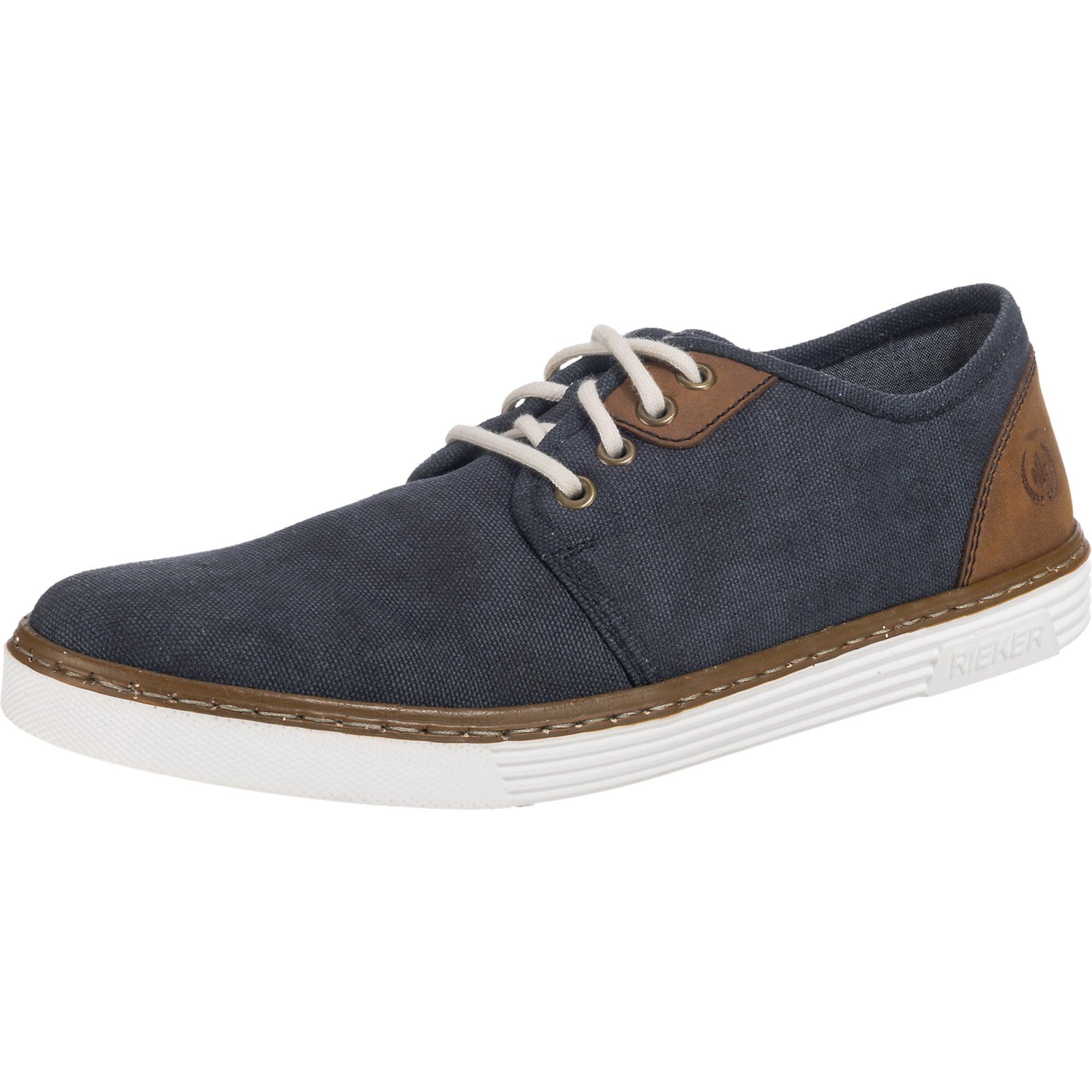 Sportovní šněrovací boty modrá hnědá RIEKER