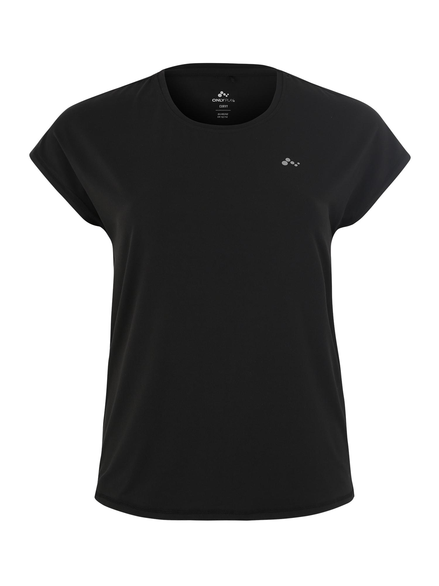 Funkční tričko onpAUBREE černá Only Play Curvy