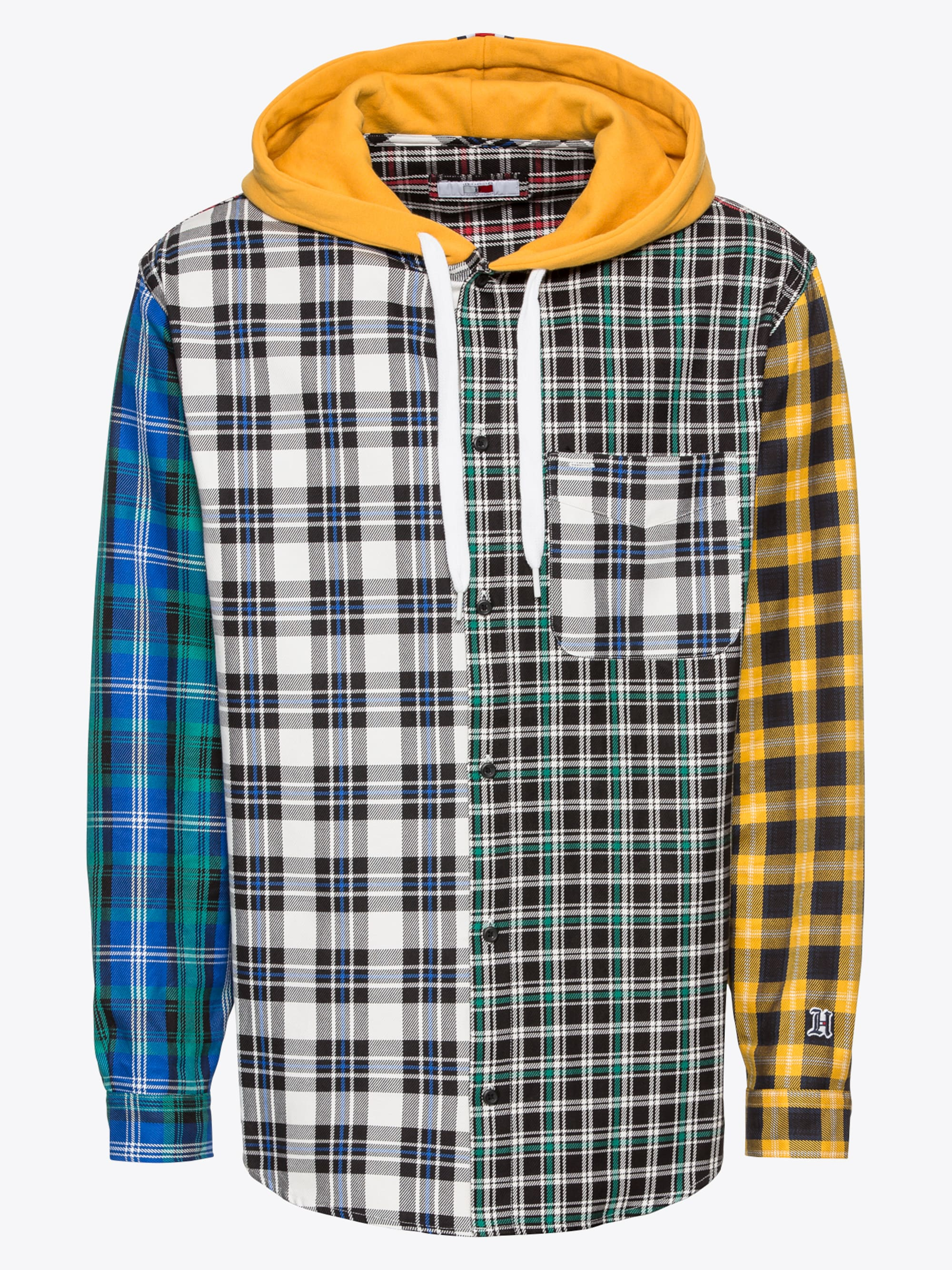 Overhemd 'LEWIS HAMILTON PLAID HOODY SHIRT'
