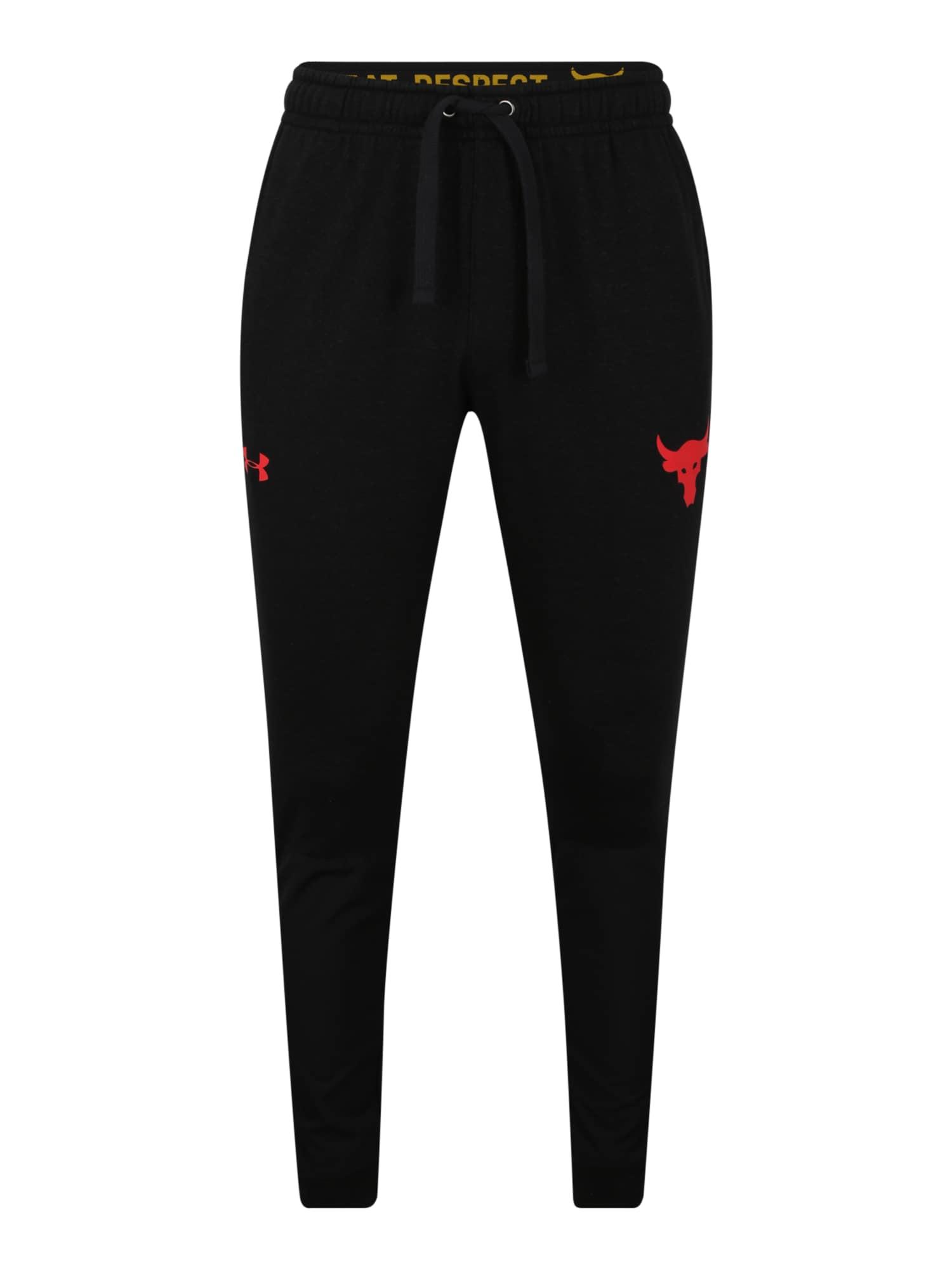 UNDER ARMOUR Sportovní kalhoty 'Project Rock'  černá