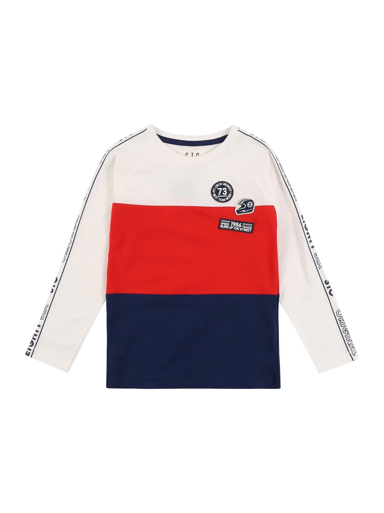 STACCATO Tričko  bílá / červená / modrá