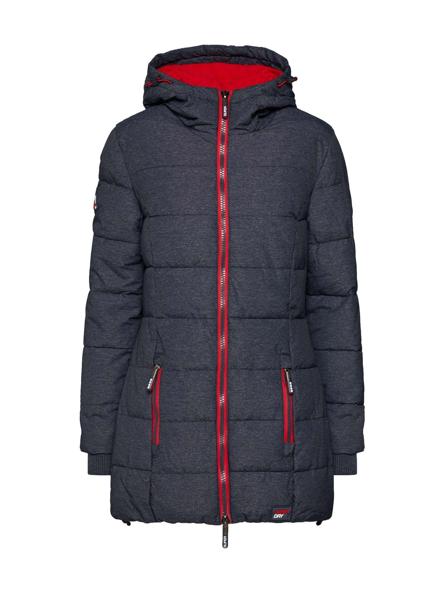 Zimní bunda TALL SPORTS PUFFER námořnická modř červená Superdry