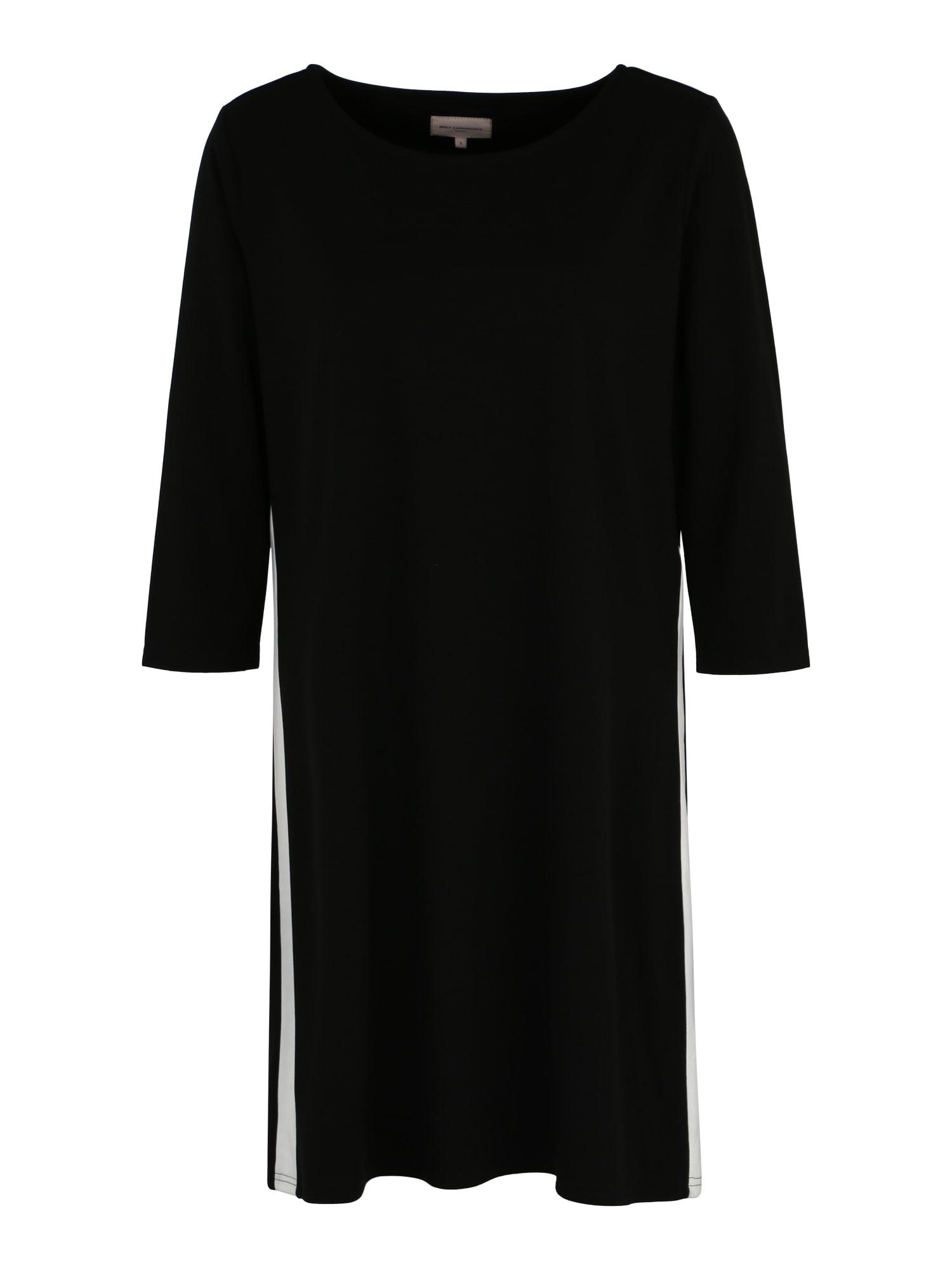 Šaty Jennifer černá bílá ONLY Carmakoma