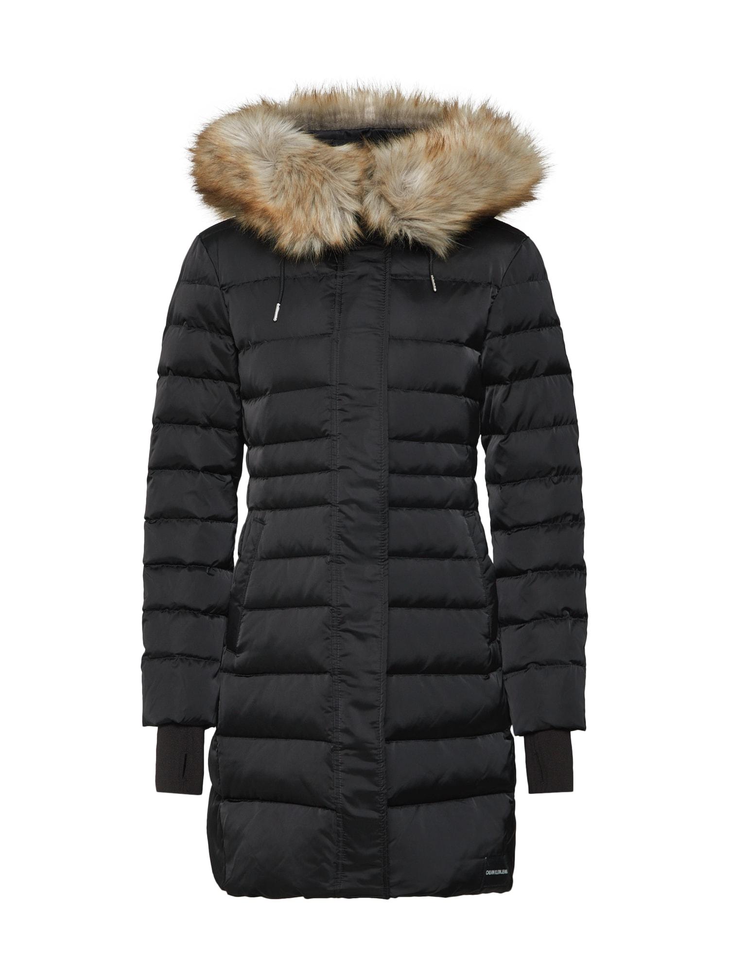 Zimní kabát černá Calvin Klein Jeans