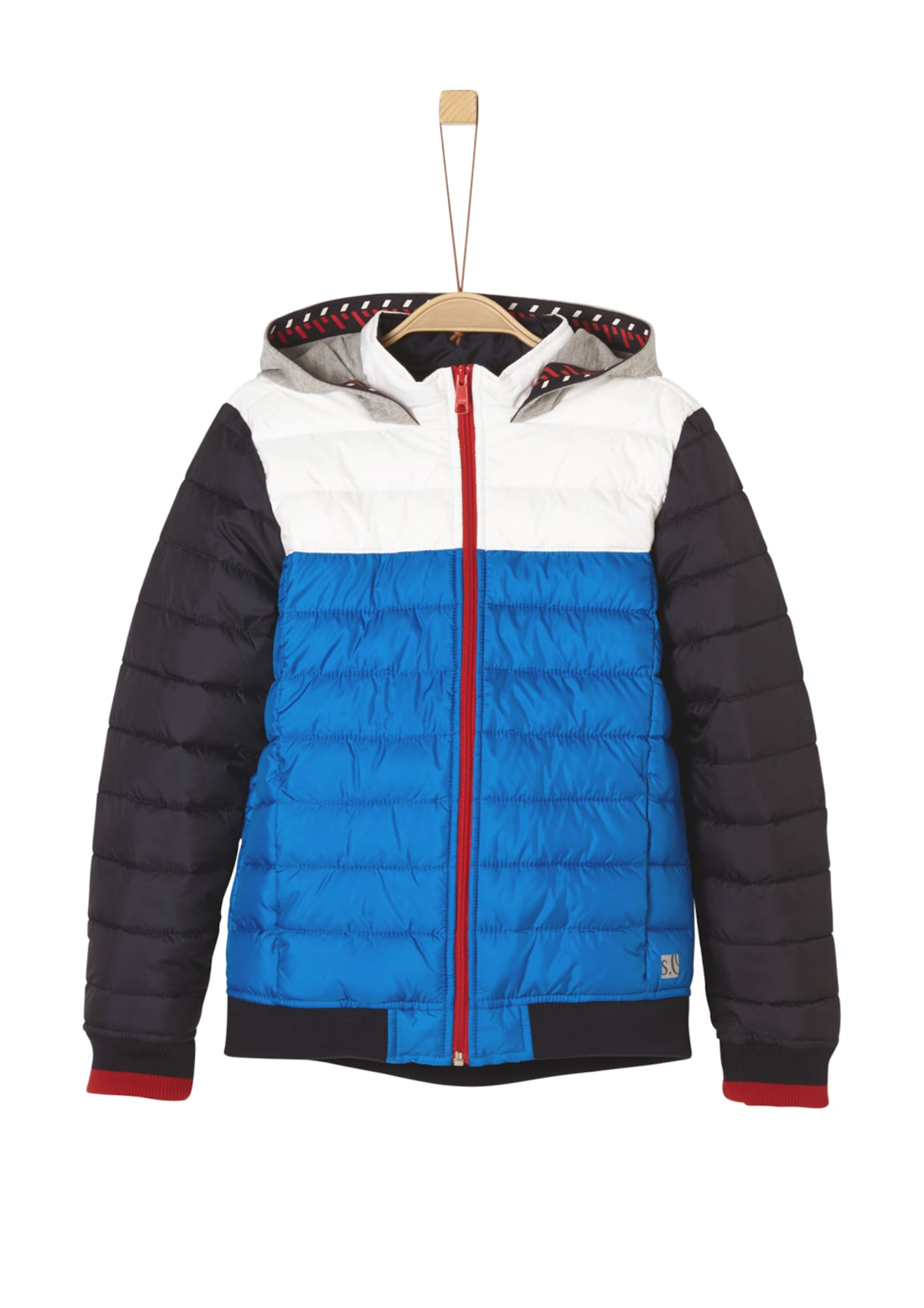 Funkční bunda modrá šedá červená černá bílá S.Oliver Junior