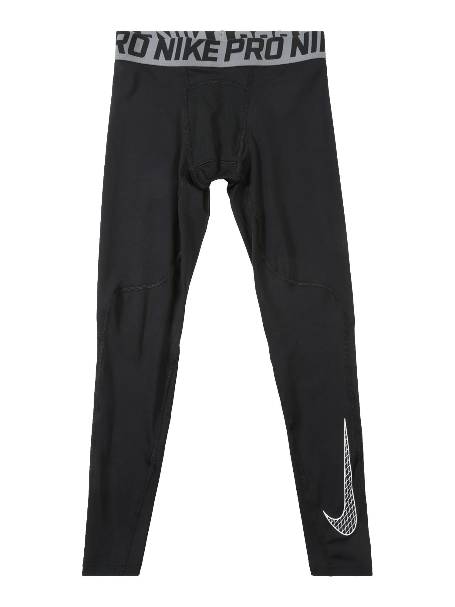 Sportovní kalhoty šedá černá bílá NIKE