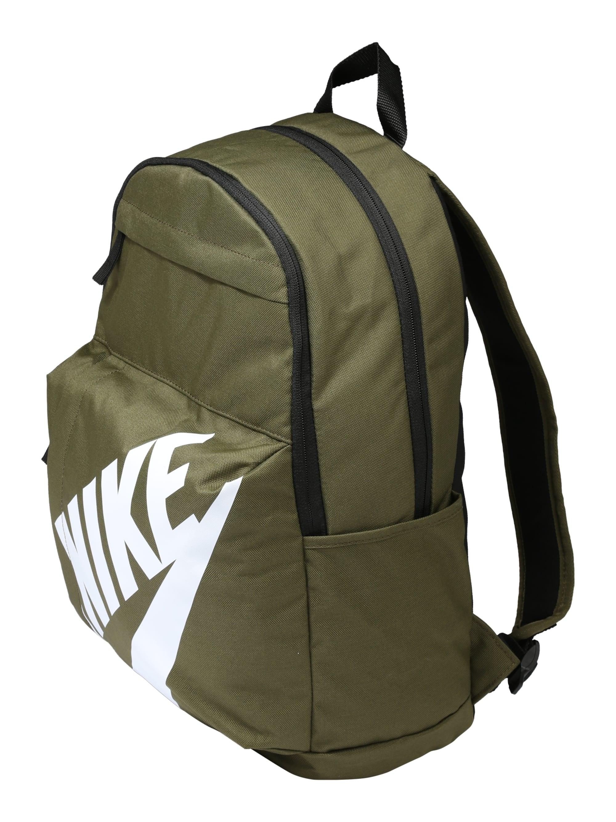 Nike Sportswear Plecak 'Elemental'  oliwkowy / biały