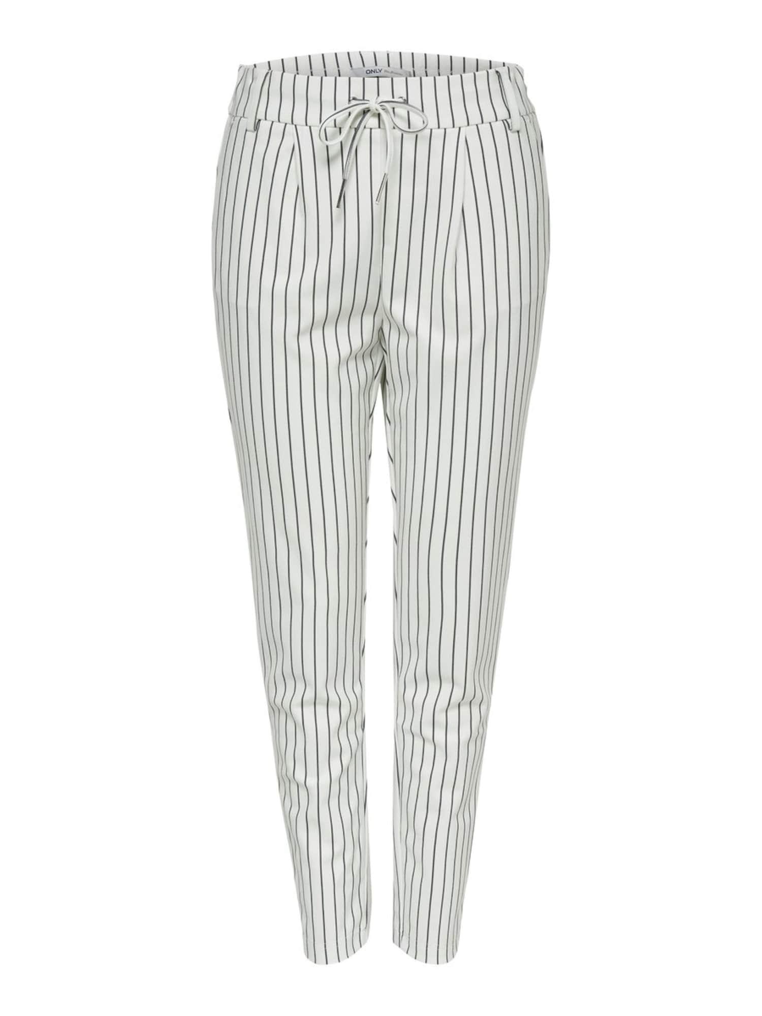 ONLY Plisované nohavice  čierna / biela