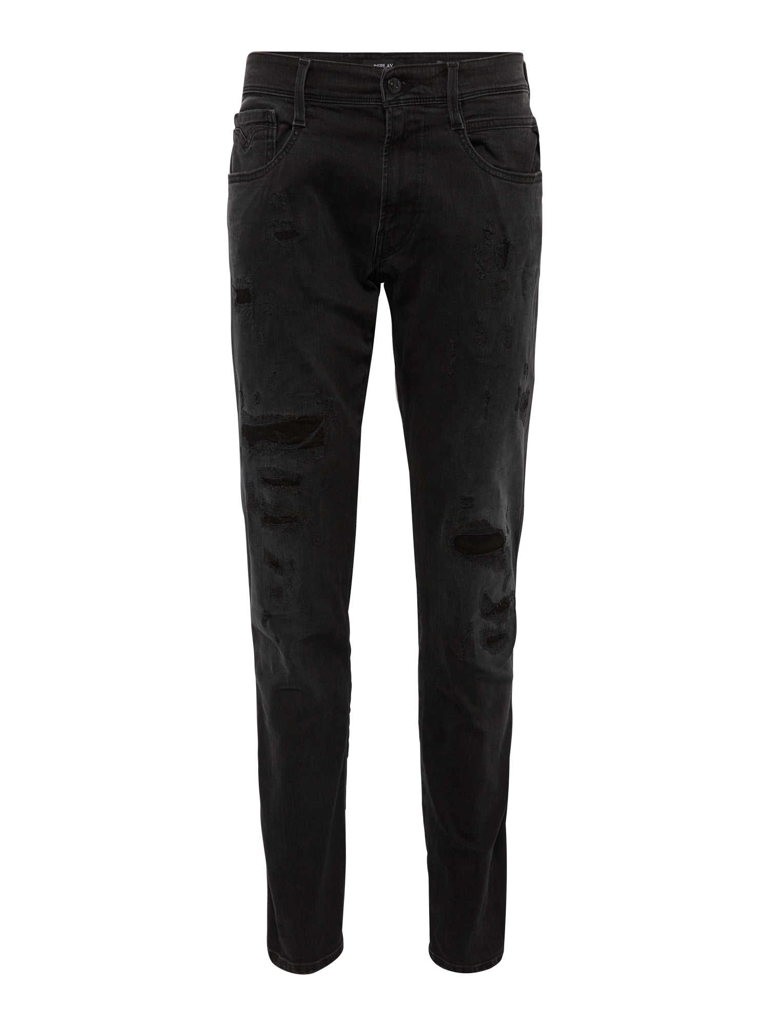 REPLAY Heren Jeans Anbass black denim