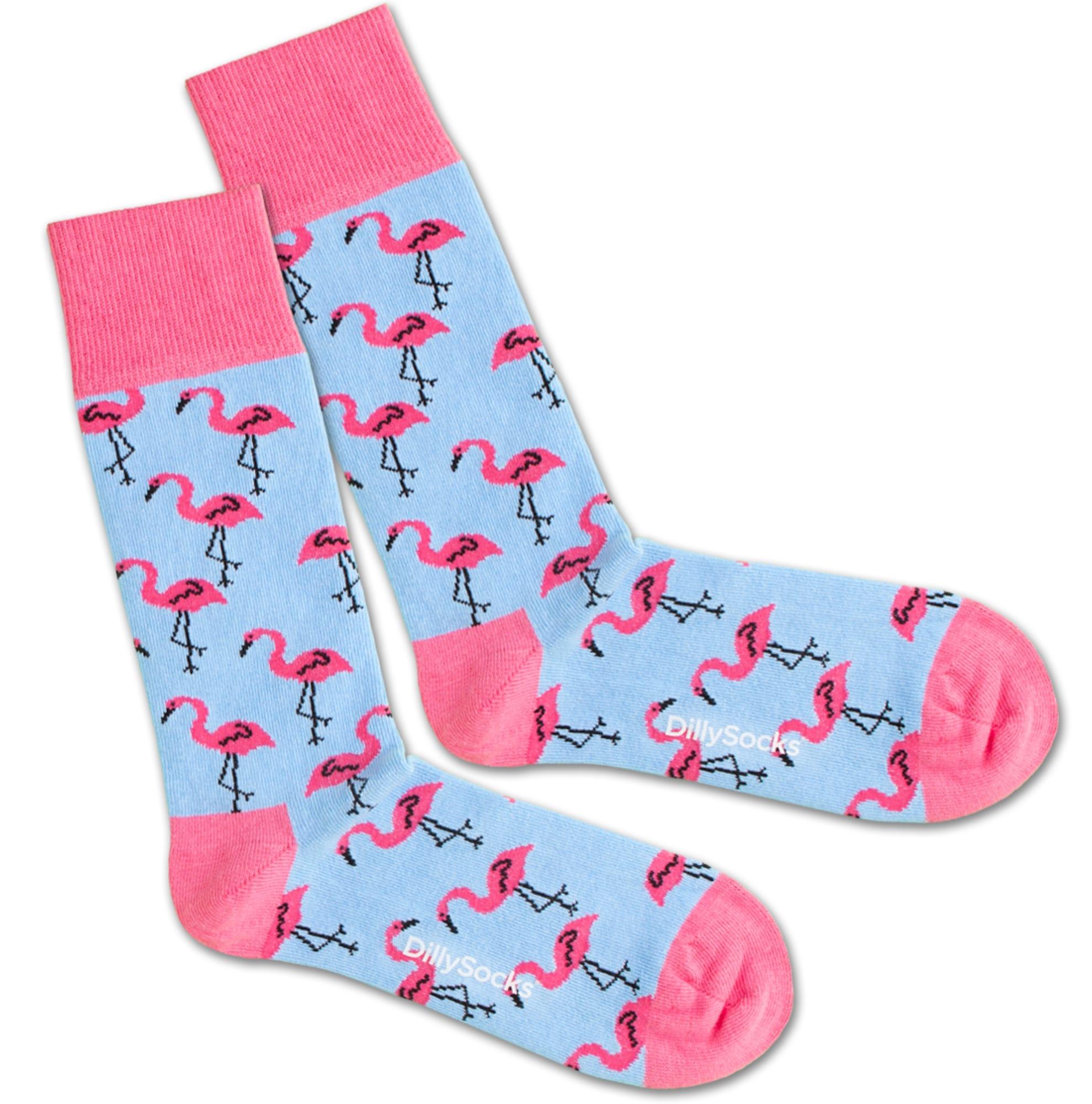 Ponožky Flamingo Sky modrá pink DillySocks