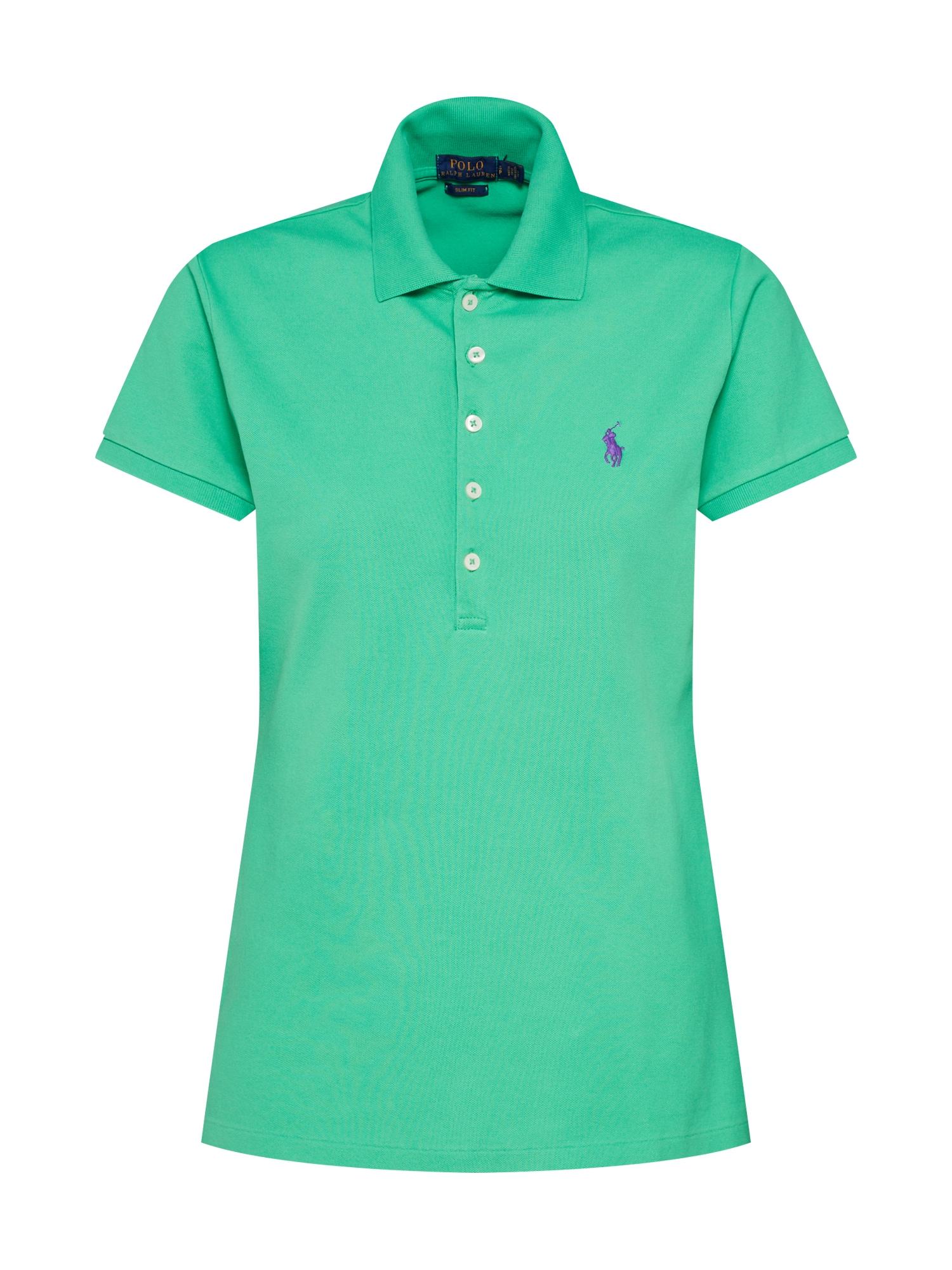 Tričko JULIE zelená tmavě fialová POLO RALPH LAUREN