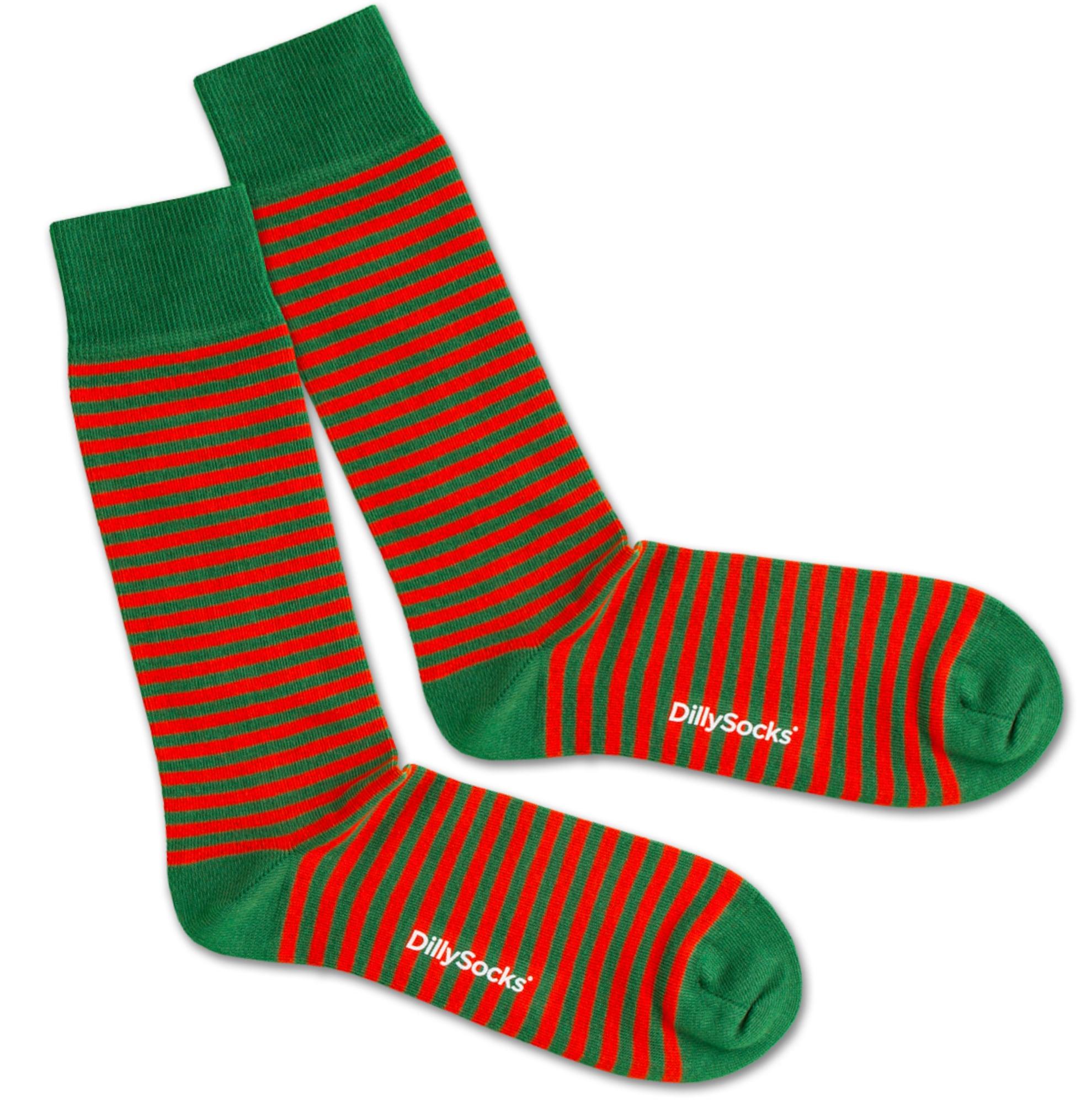 Ponožky Green Liner zelená červená DillySocks