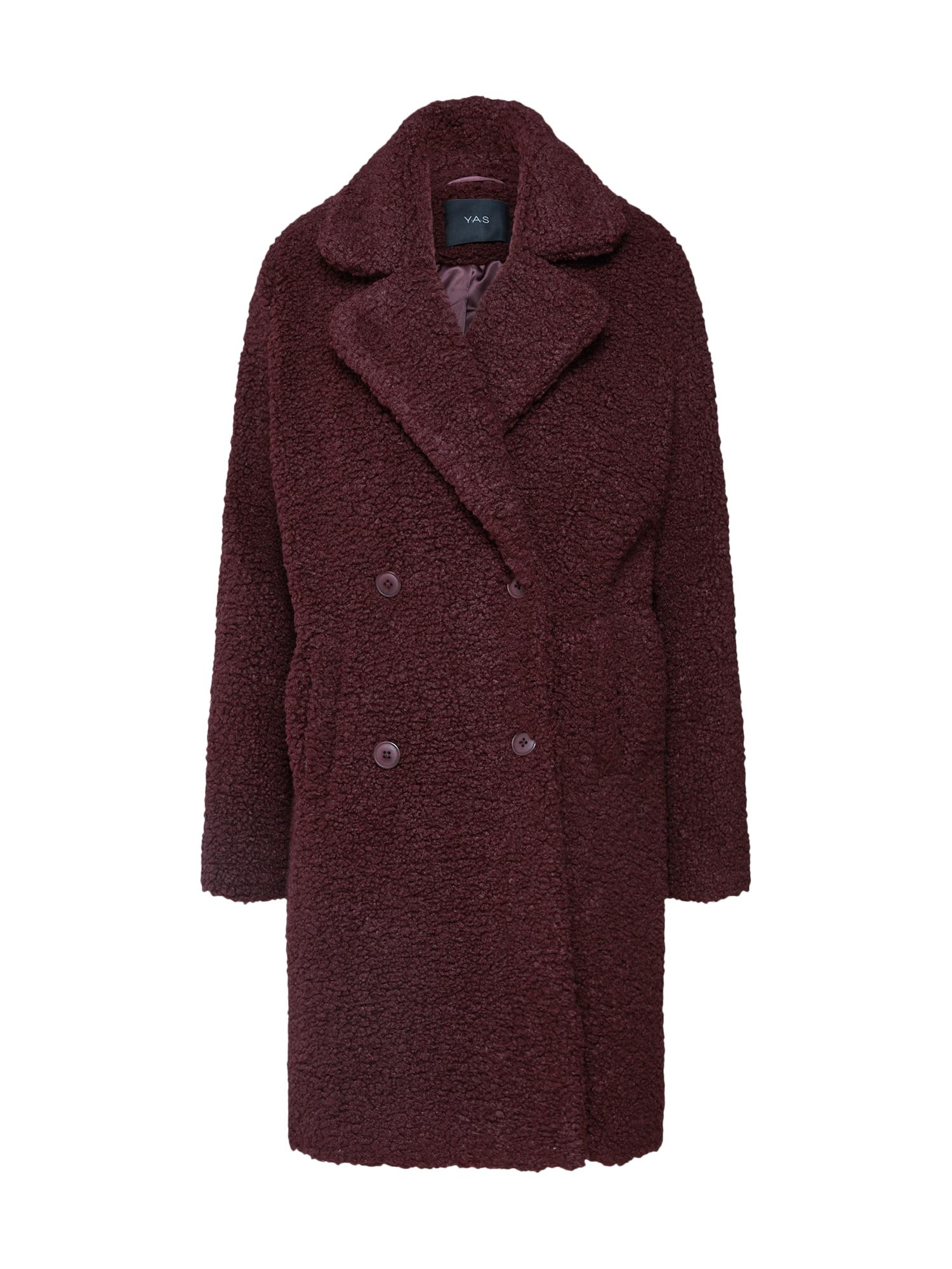 Zimní kabát vínově červená Y.A.S