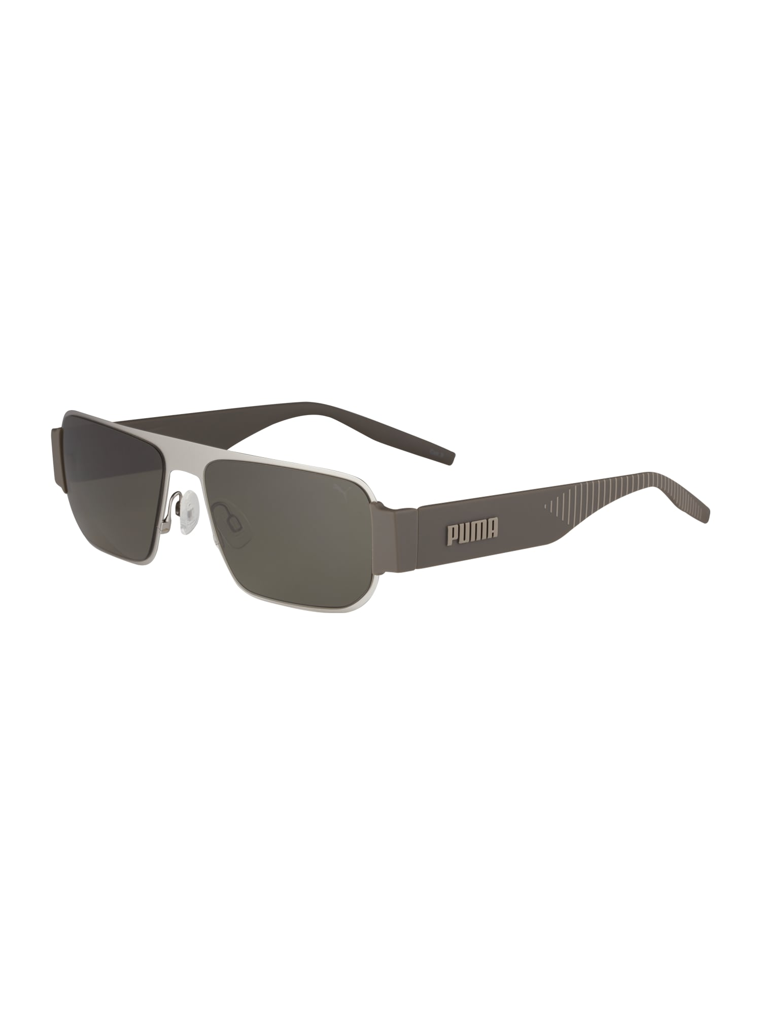 PUMA Slnečné okuliare 'PU0283S'  zelená / sivá