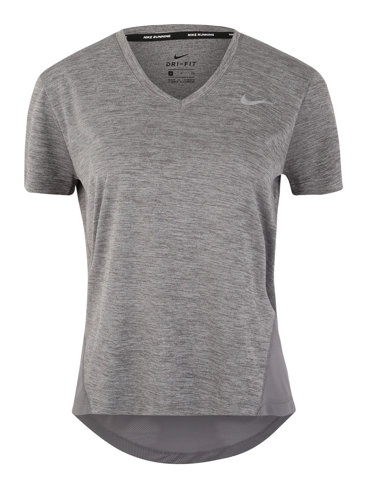 NIKE Funkčné tričko 'Miler'  sivá