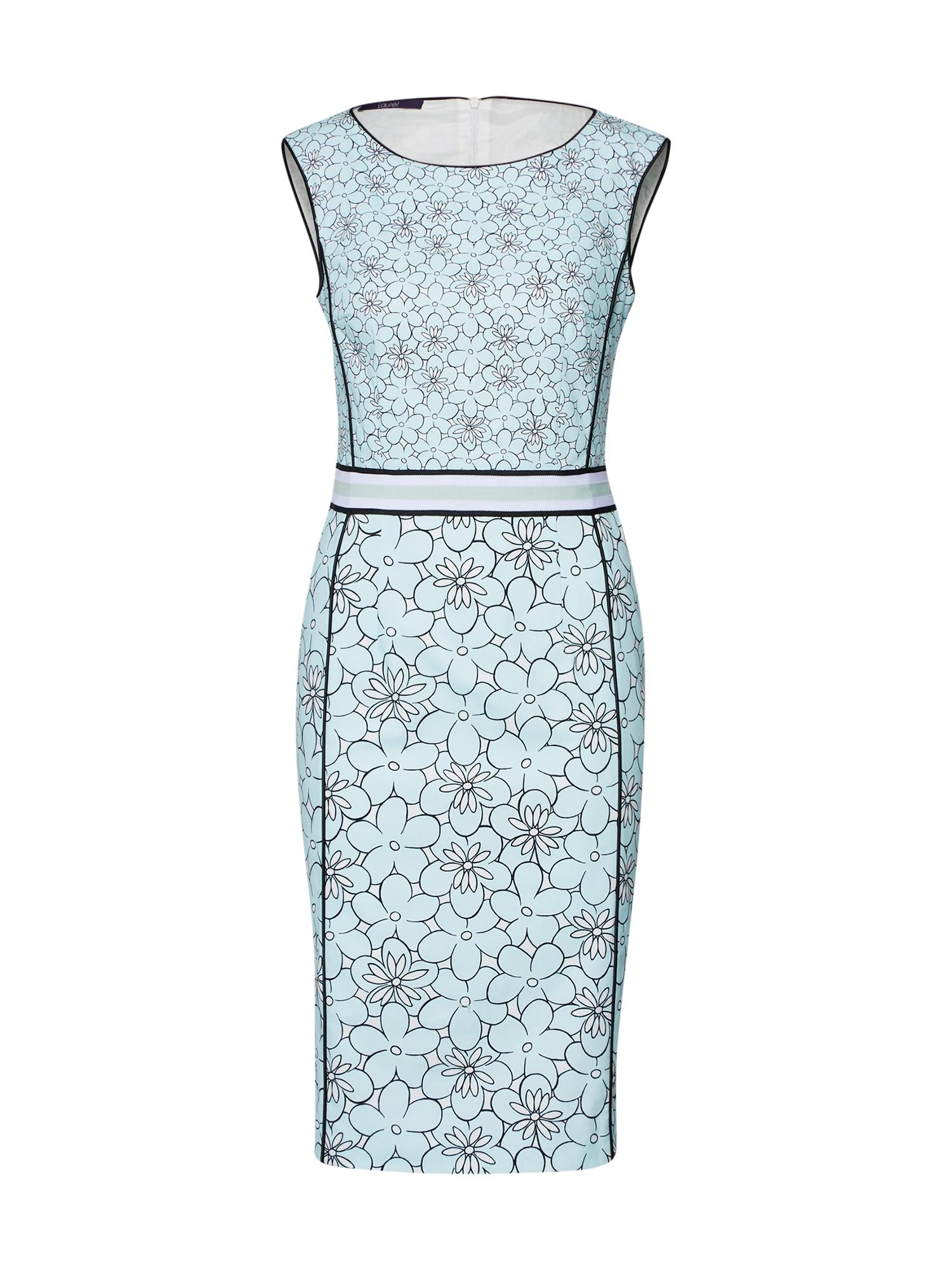 Pouzdrové šaty 11047 světlemodrá černá LAUREL