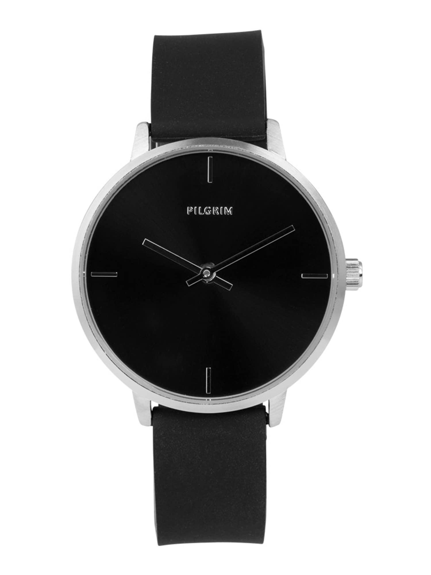 Analogové hodinky Inez černá stříbrná Pilgrim