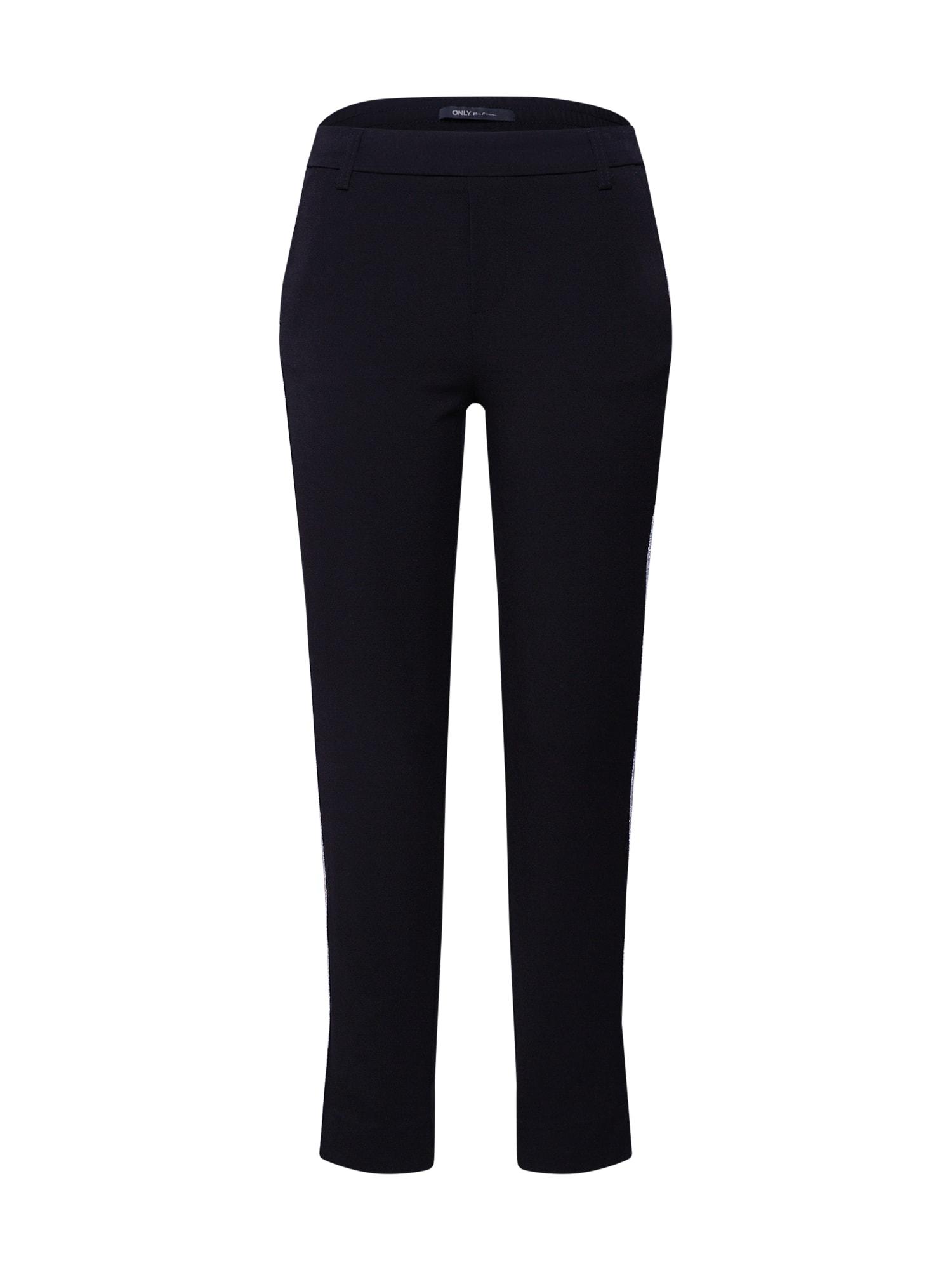 Kalhoty onlCOOL ANK SPORT GLITTER TAPE PANT černá ONLY