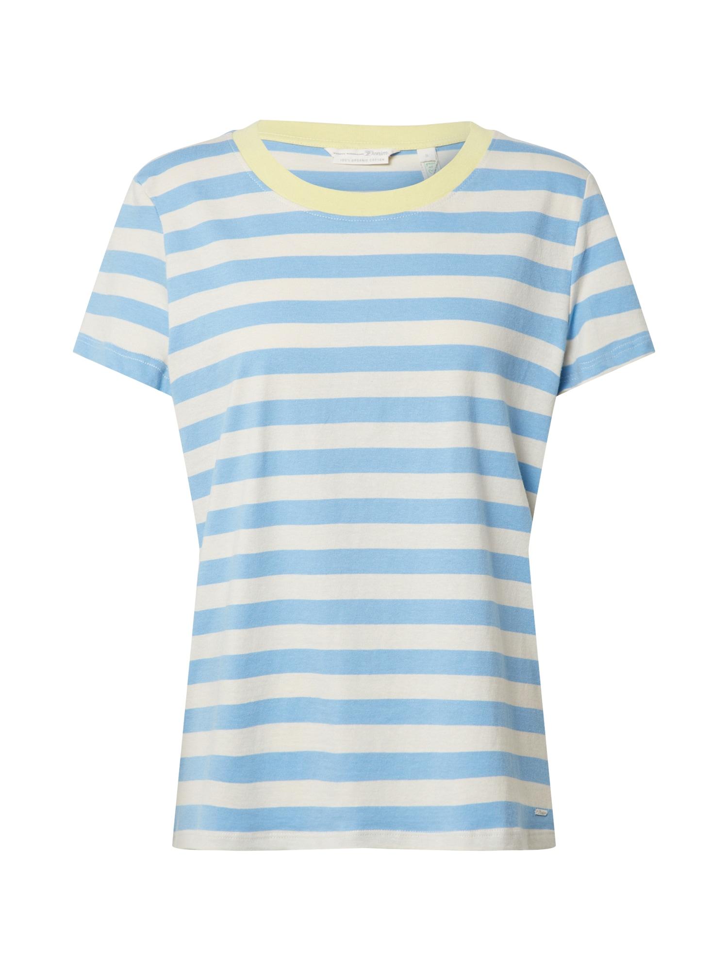 TOM TAILOR DENIM Tričko  bílá / modrá