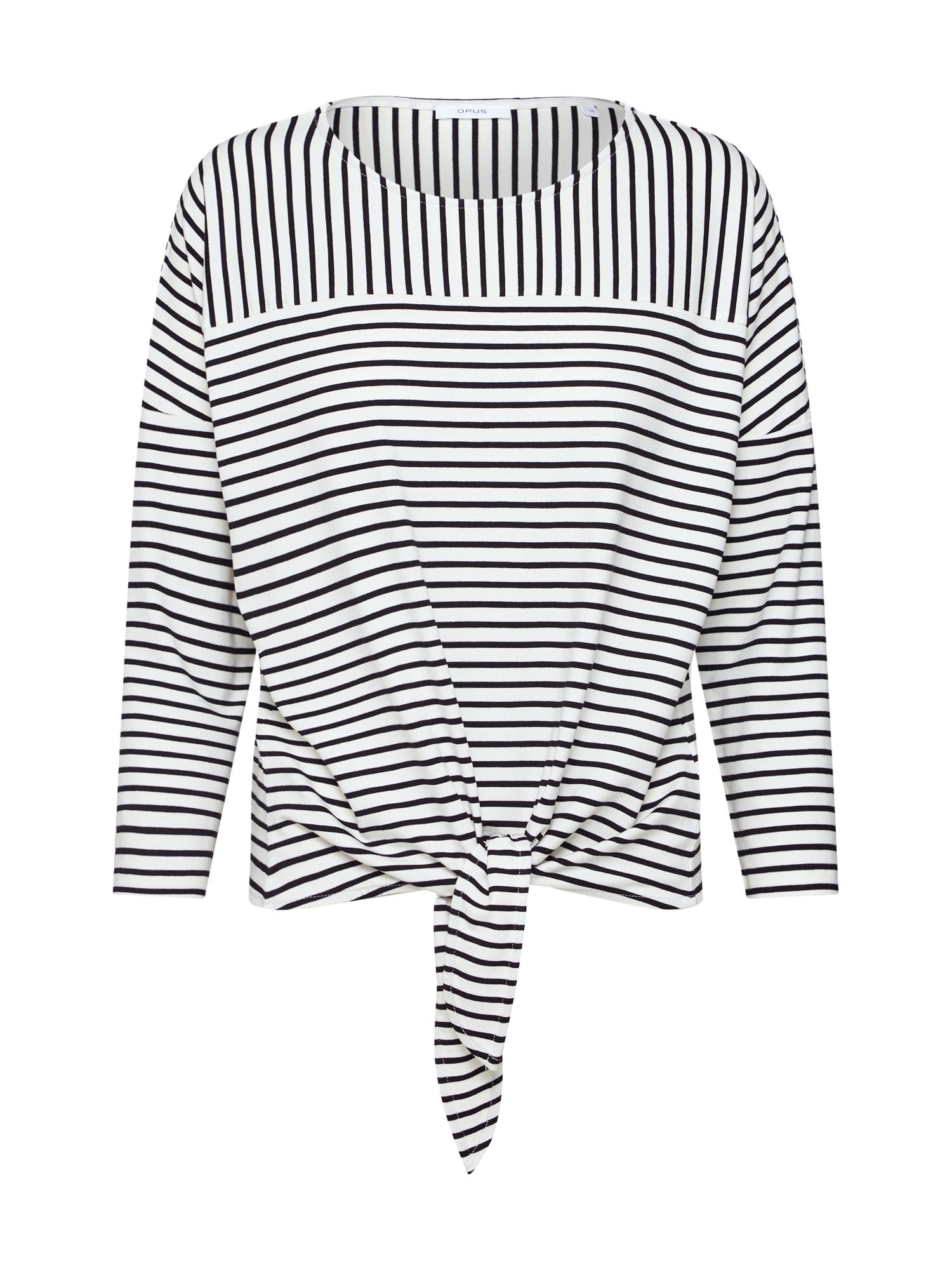 Tričko Siplak černá bílá OPUS