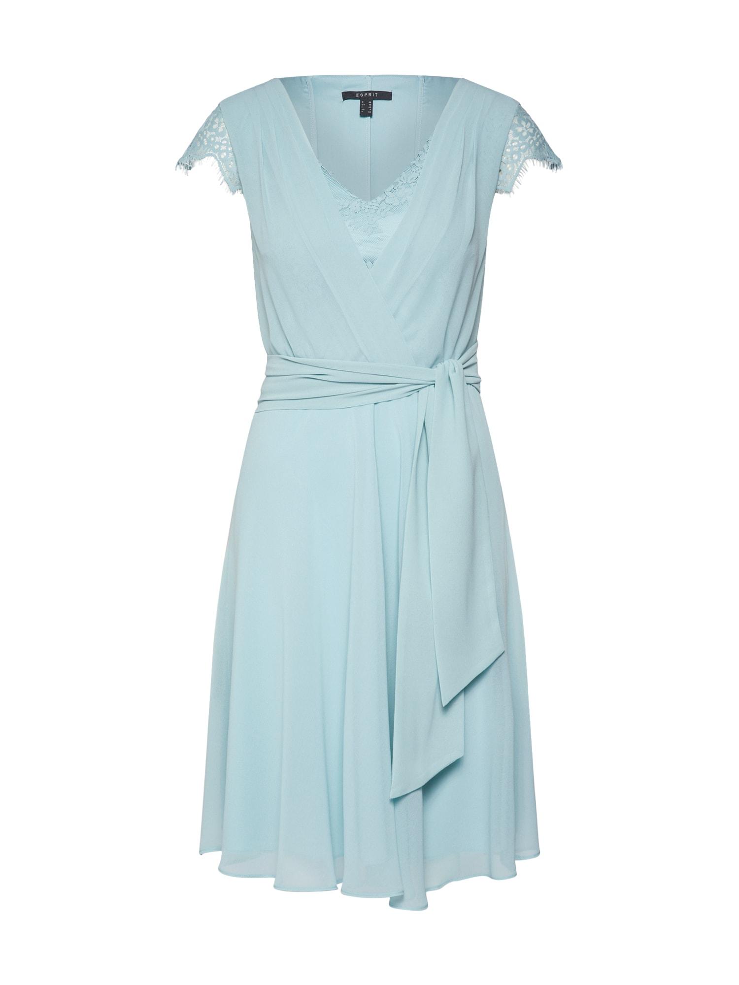 Esprit Collection Sukienka koktajlowa 'New Fluid'  aqua / jasnoniebieski / zielony